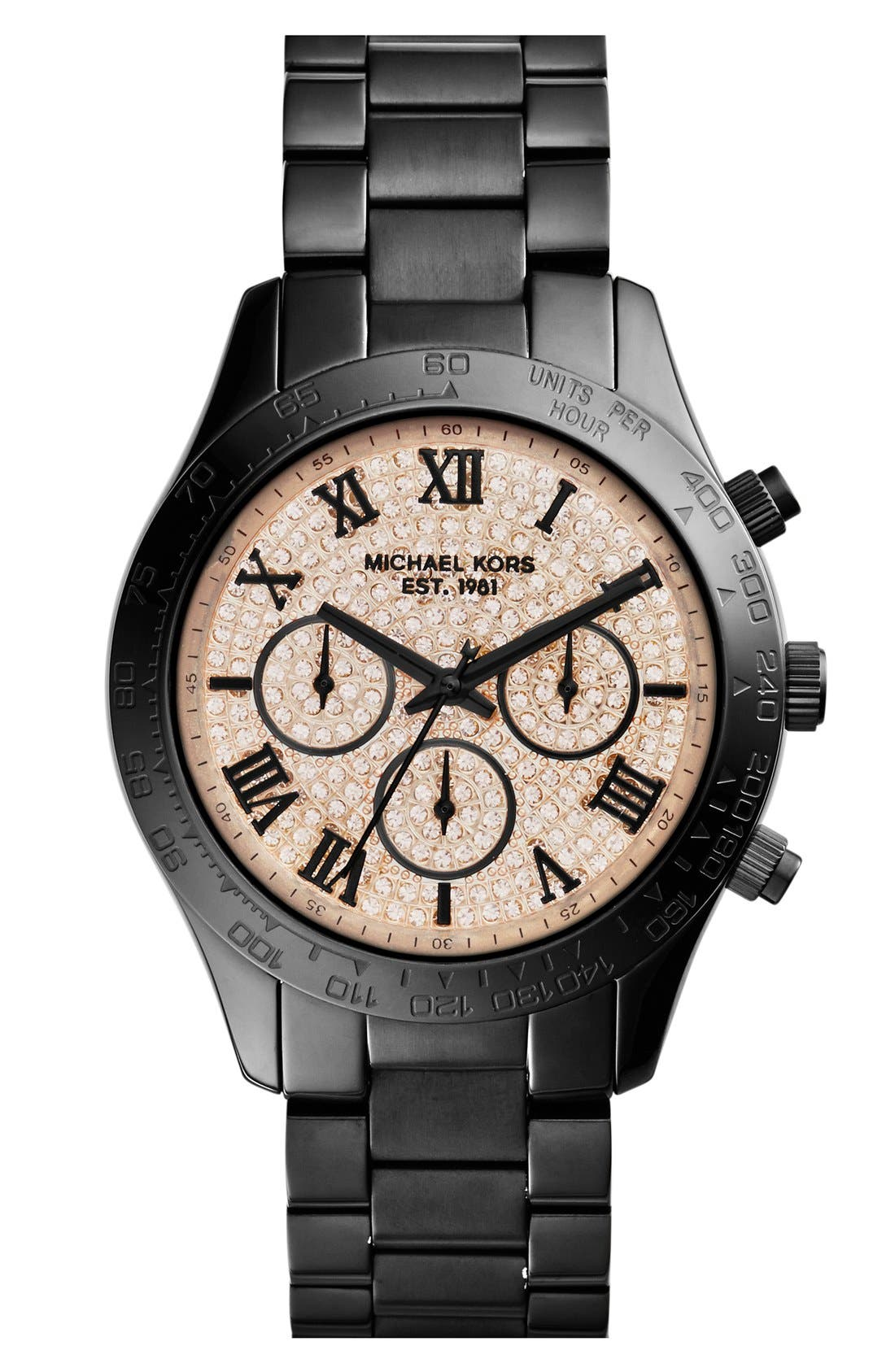 Main Image - Michael Kors 'Layton' Chronograph Bracelet Watch, 44mm (Nordstrom Exclusive)