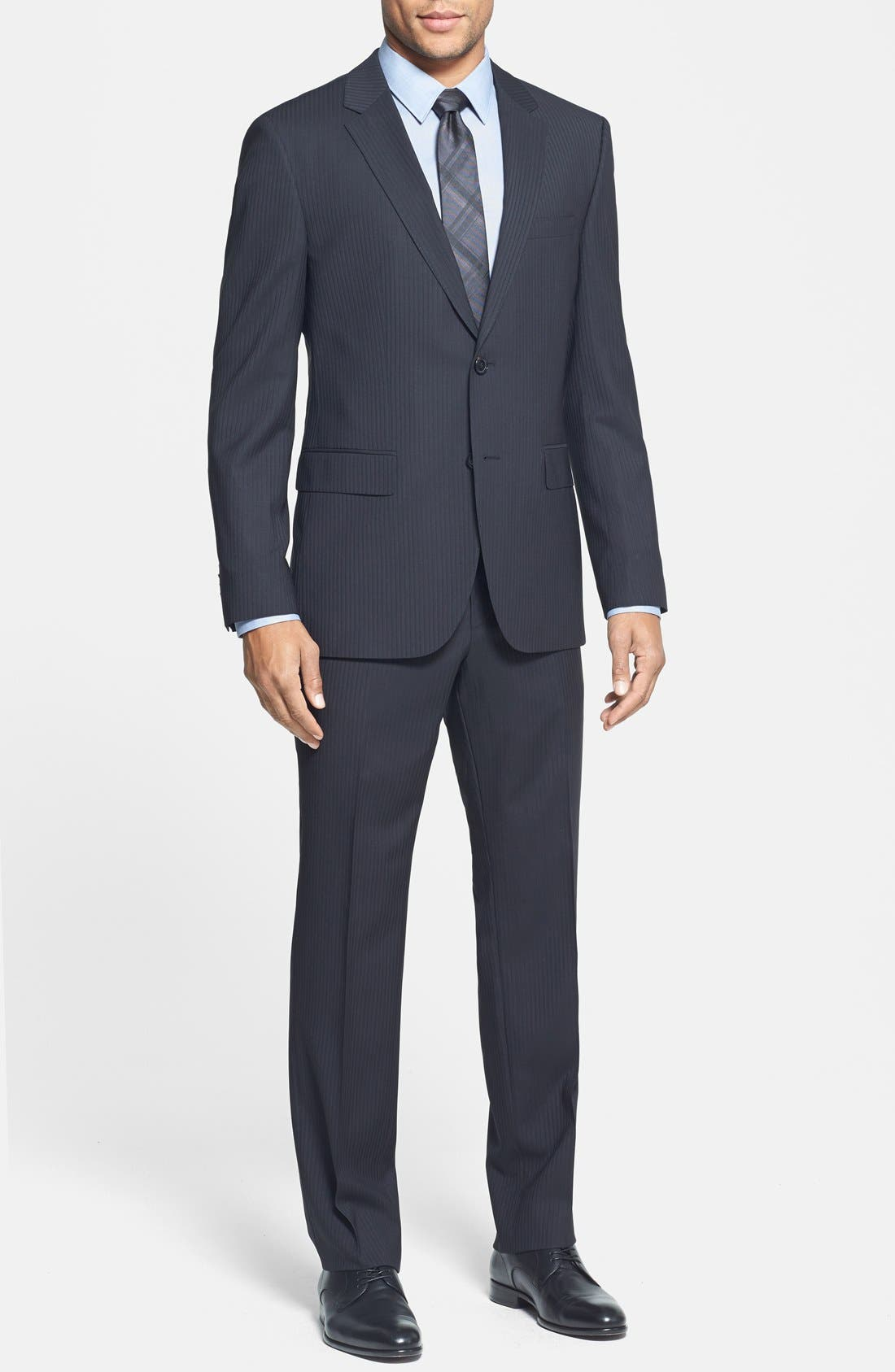 Main Image - BOSS HUGO BOSS 'James/Sharp' Trim Fit Stripe Suit