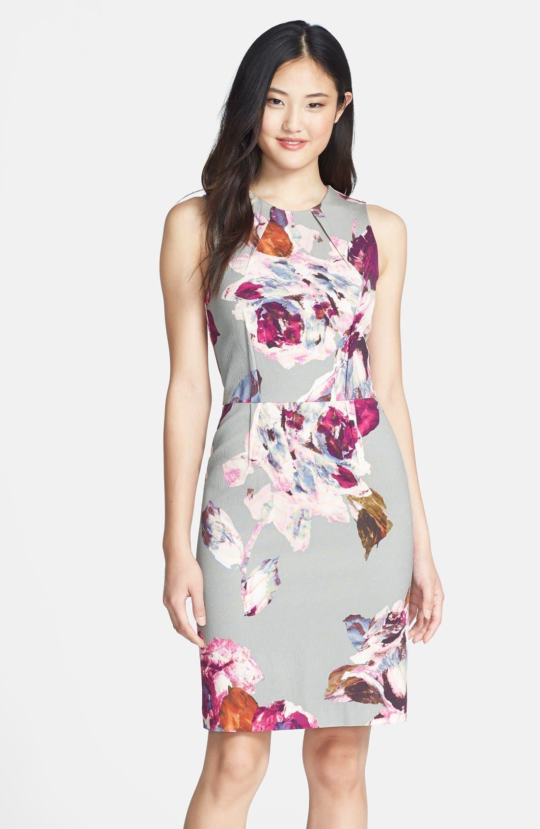 Alternate Image 1 Selected - Trina Turk 'Kurdson' Print Woven Sheath dress