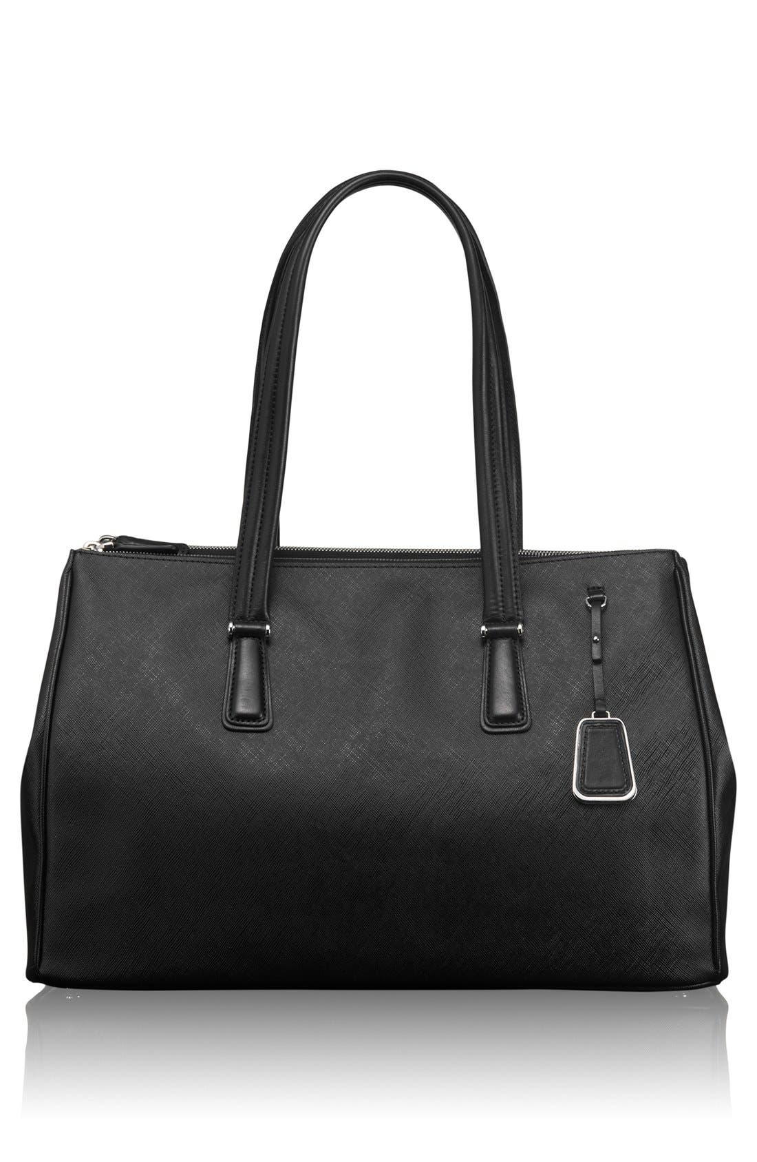 Main Image - Tumi 'Sinclair - Large Ana' Double Zip Coated Canvas Tote (17 Inch)