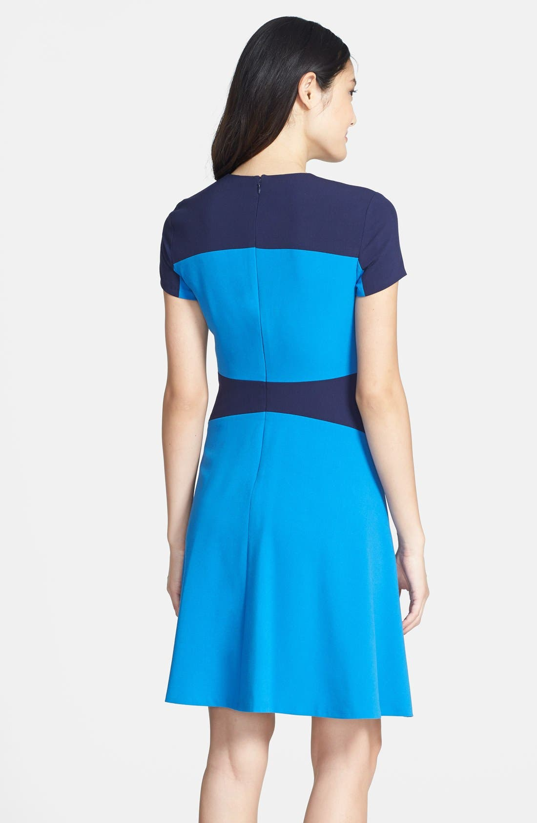 Alternate Image 2  - Marc New York by Andrew Marc Two-Tone Fit & Flare Dress