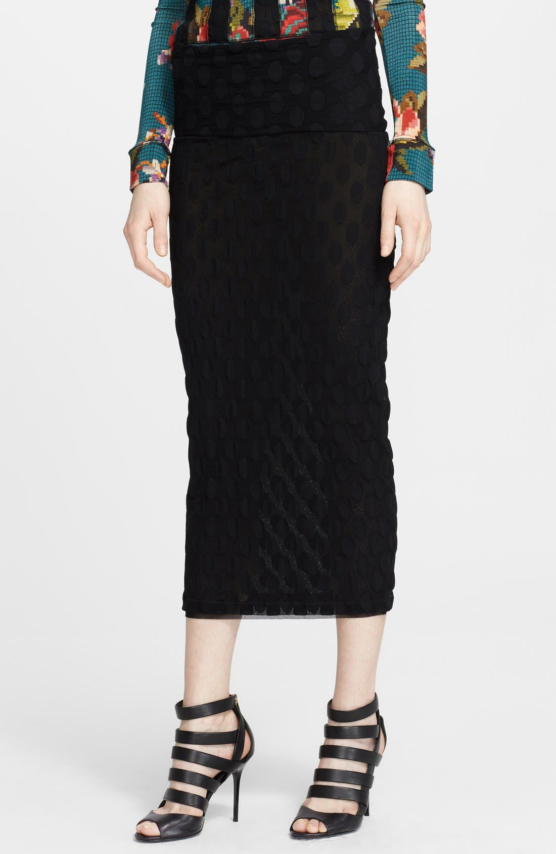 Main Image - Jean Paul Gaultier Flocked Midi Skirt