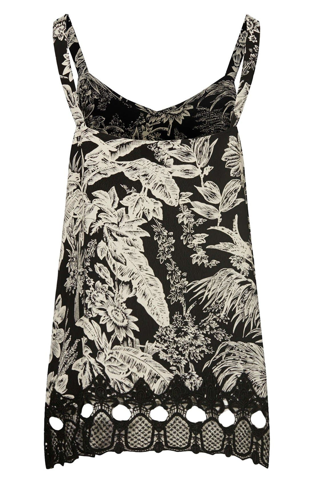 Alternate Image 2  - Topshop Crochet Trim Maternity Camisole