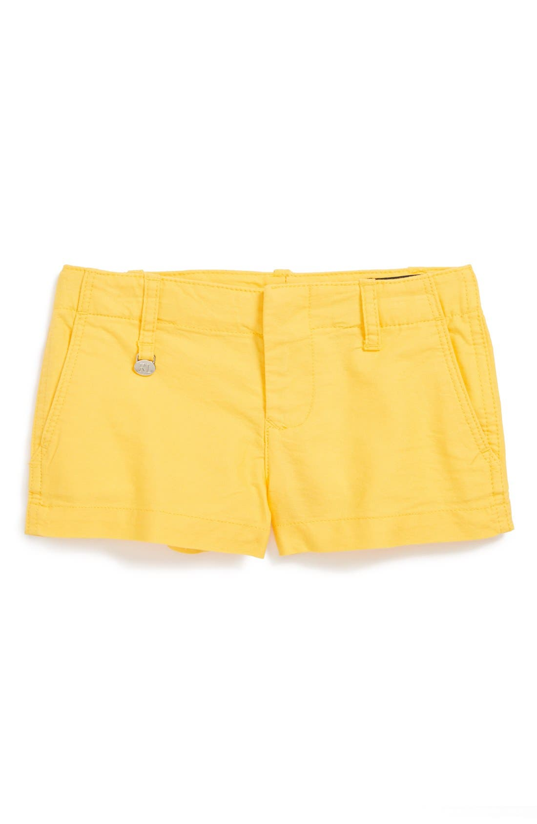 Main Image - Ralph Lauren Oxford Cotton Shorts (Toddler Girls)