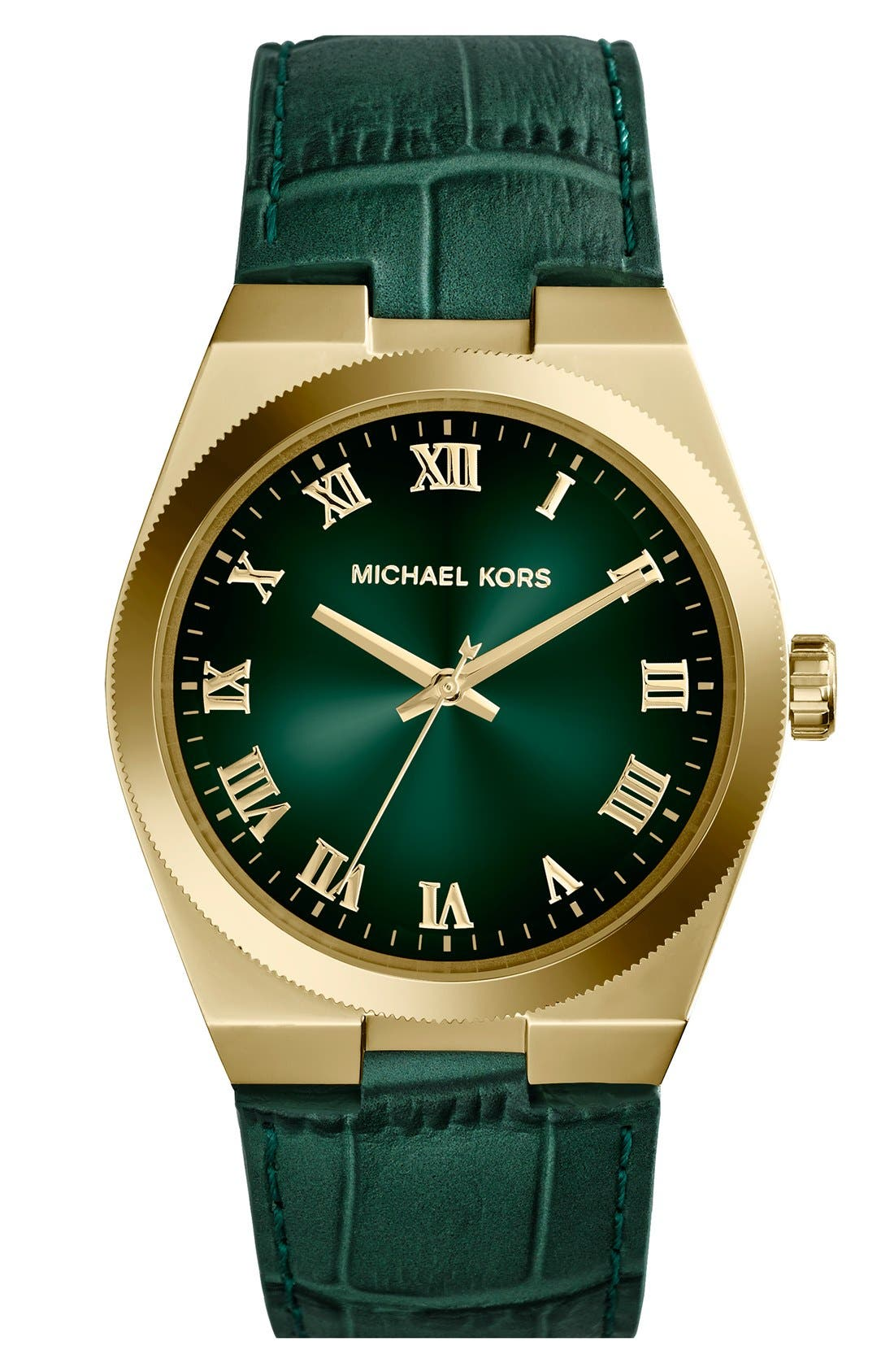Alternate Image 1 Selected - Michael Kors 'Channing' Leather Strap Watch, 38mm