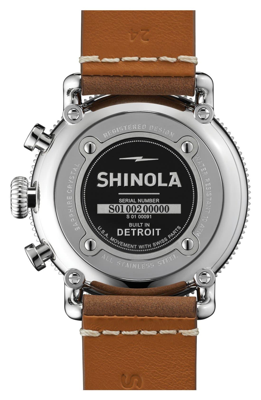 Alternate Image 2  - Shinola 'The Runwell' Chronograph Leather Strap Watch, 48mm