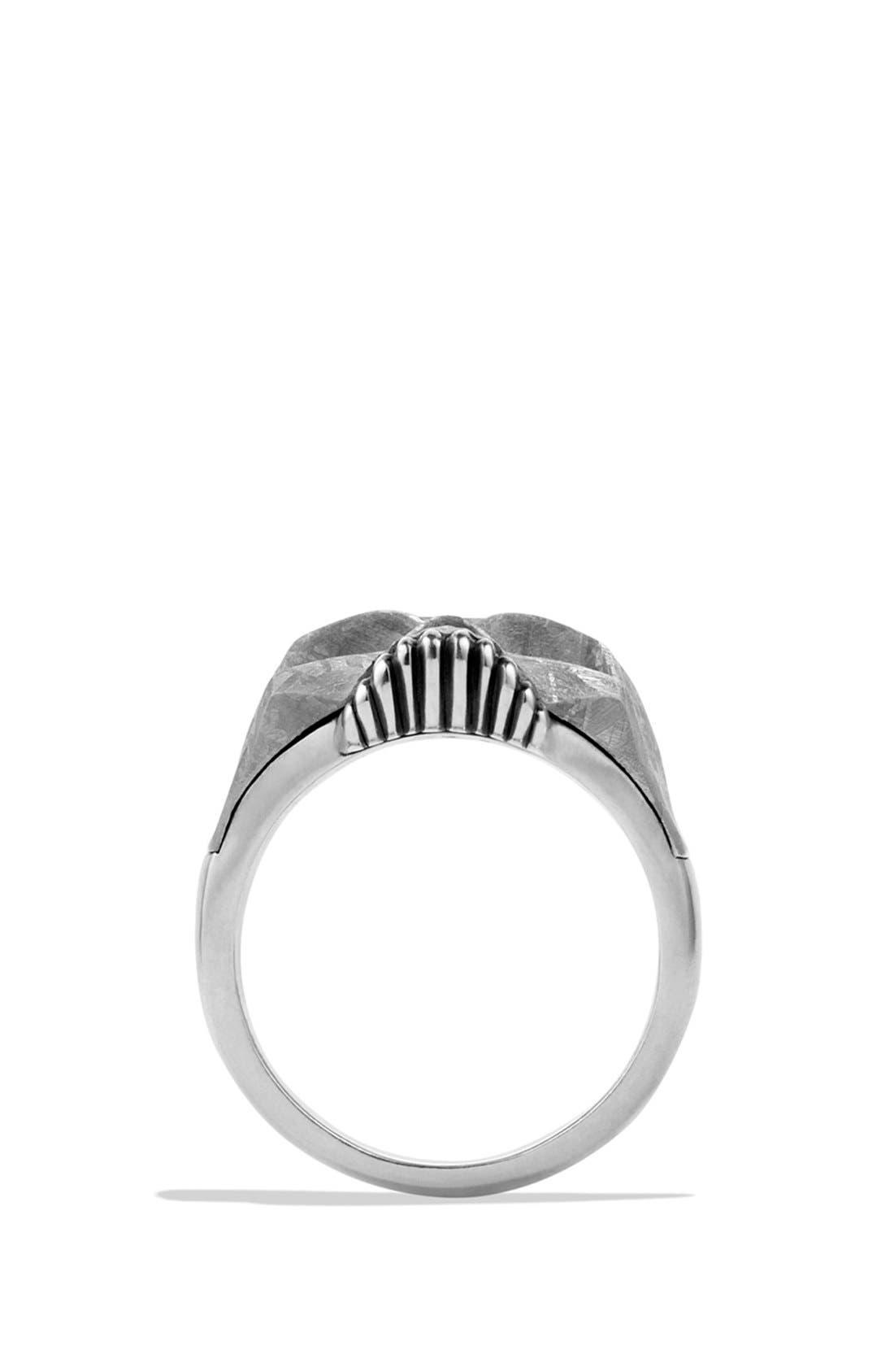 Alternate Image 4  - David Yurman 'Skull' Ring with Carved Meteorite