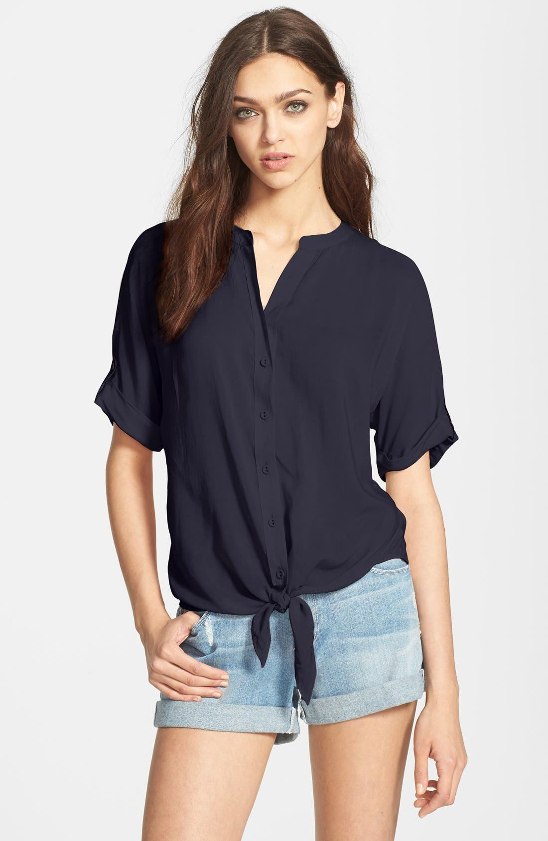 Alternate Image 1 Selected - Paige Denim 'Whitney' Tie Front Shirt