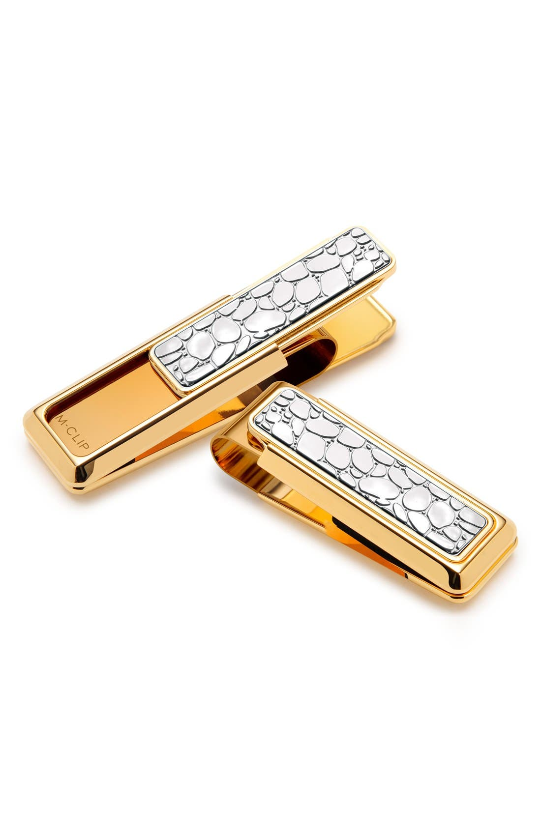 'River Rock' Money Clip,                             Main thumbnail 1, color,                             Yellow Gold