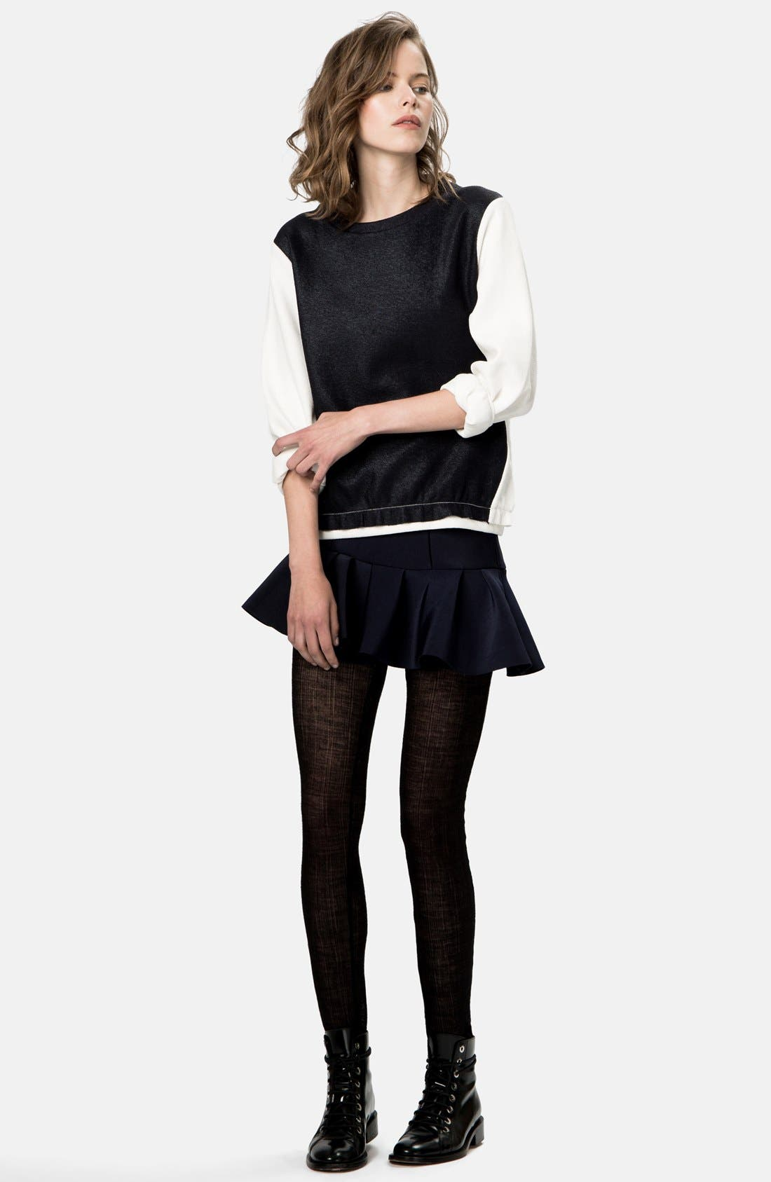Main Image - maje 'Globule' Colorblock Sweatshirt