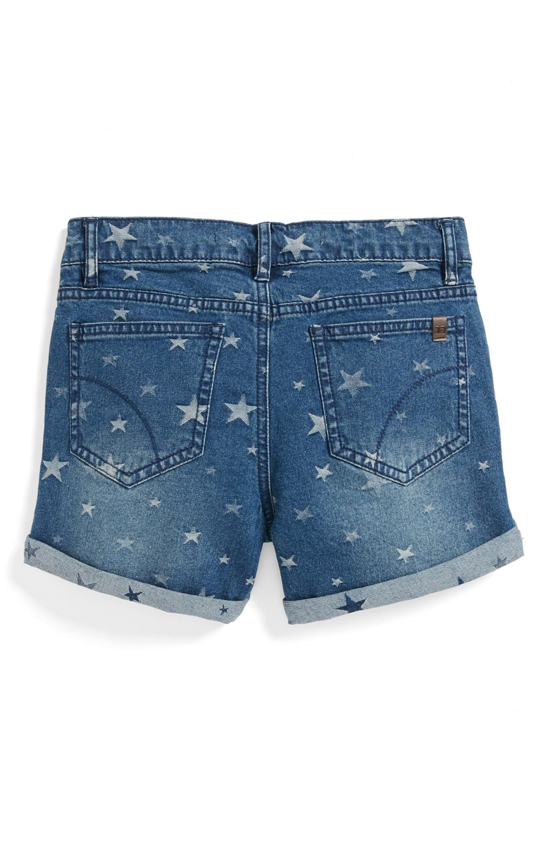 Alternate Image 1 Selected - Joe's Star Pattern Rolled Cuff Shorts (Little Girls)