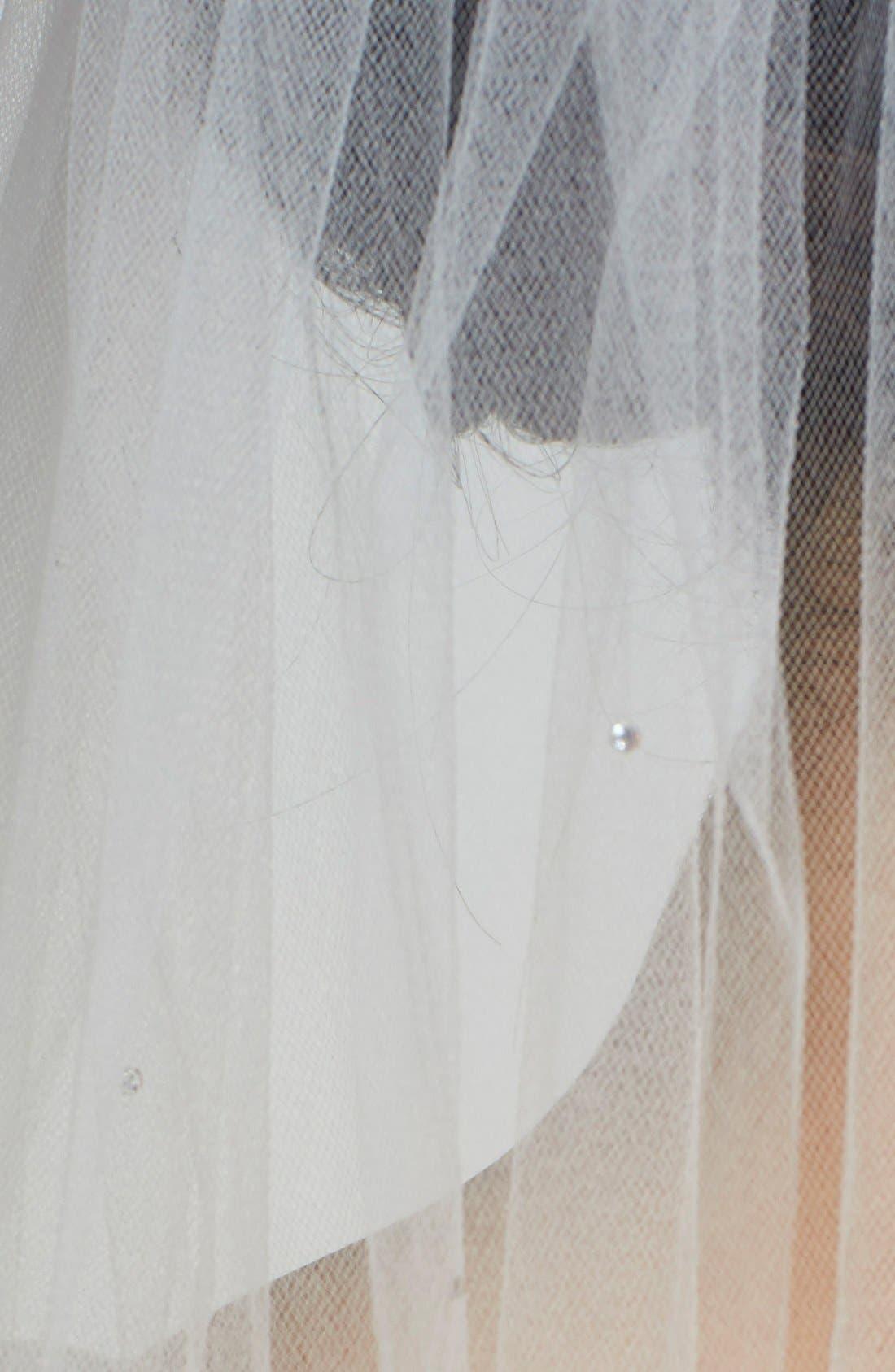 Alternate Image 2  - Veil Trends 'Amethyst' Single Layer Fingertip Veil