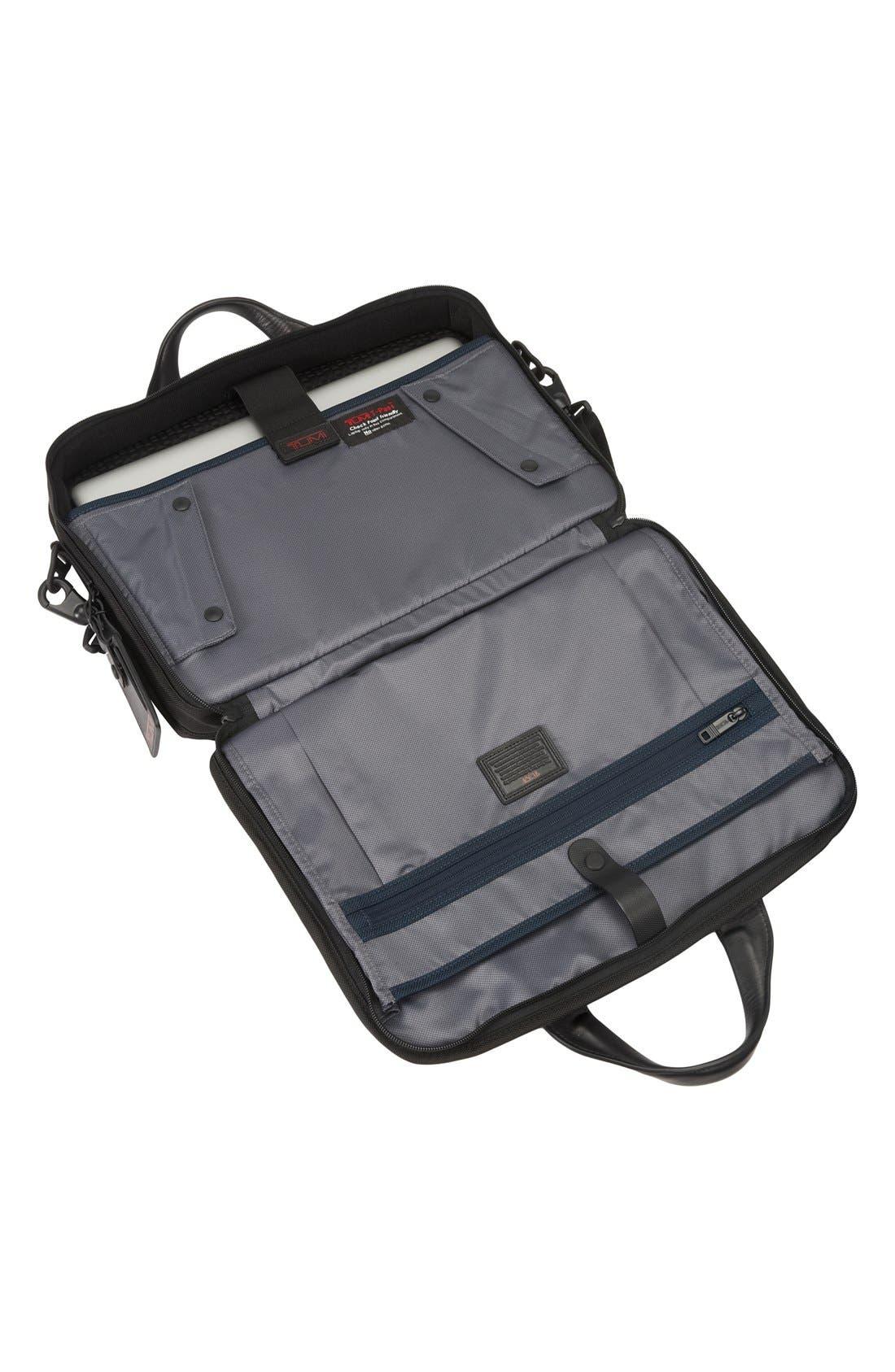 Alpha 2 T-Pass<sup>™</sup> Laptop Briefcase,                             Alternate thumbnail 2, color,                             Black