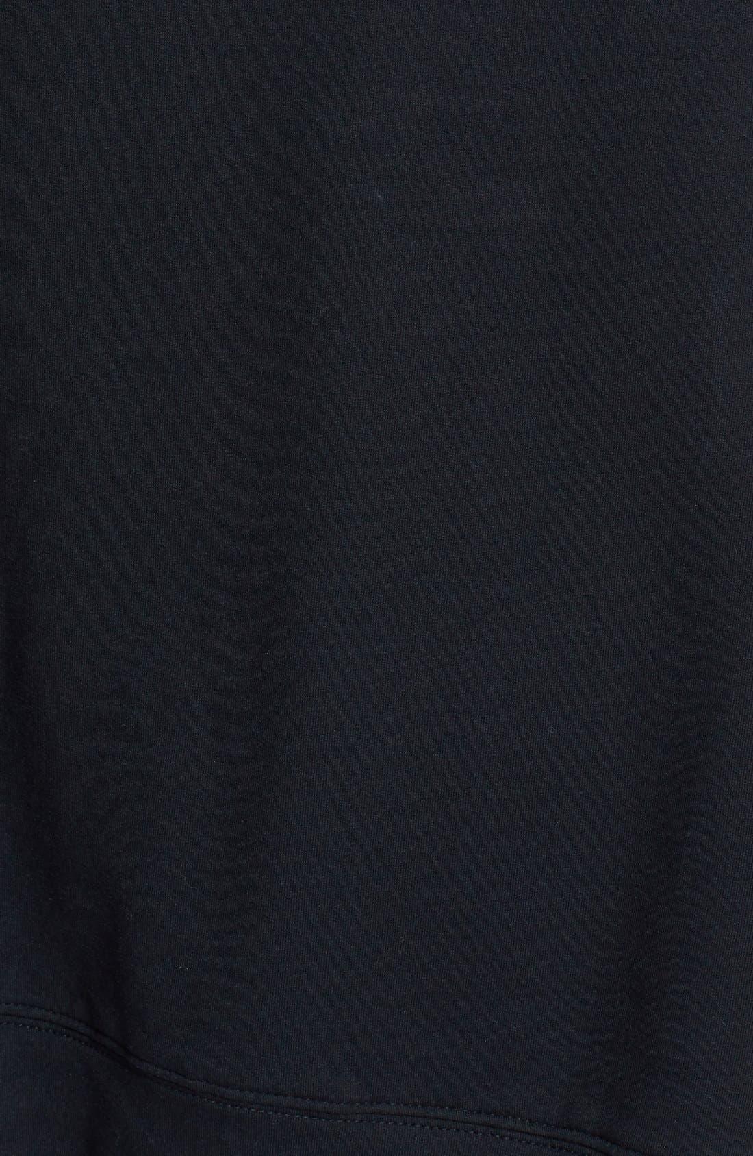 Alternate Image 3  - Halogen® Leather & Knit Mixed Media Top (Regular & Petite)
