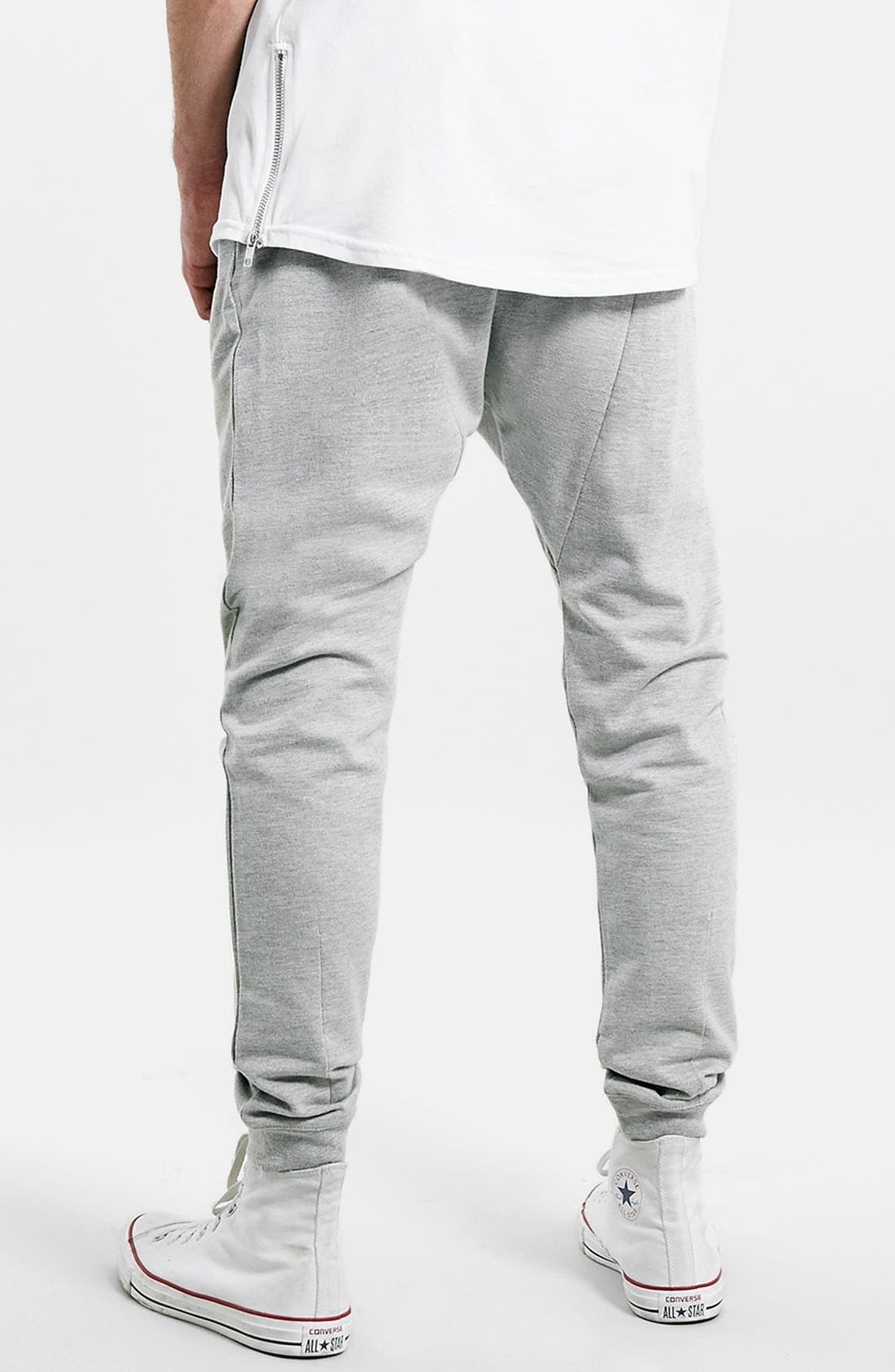 Alternate Image 2  - Topman Heathered Jogger Pants