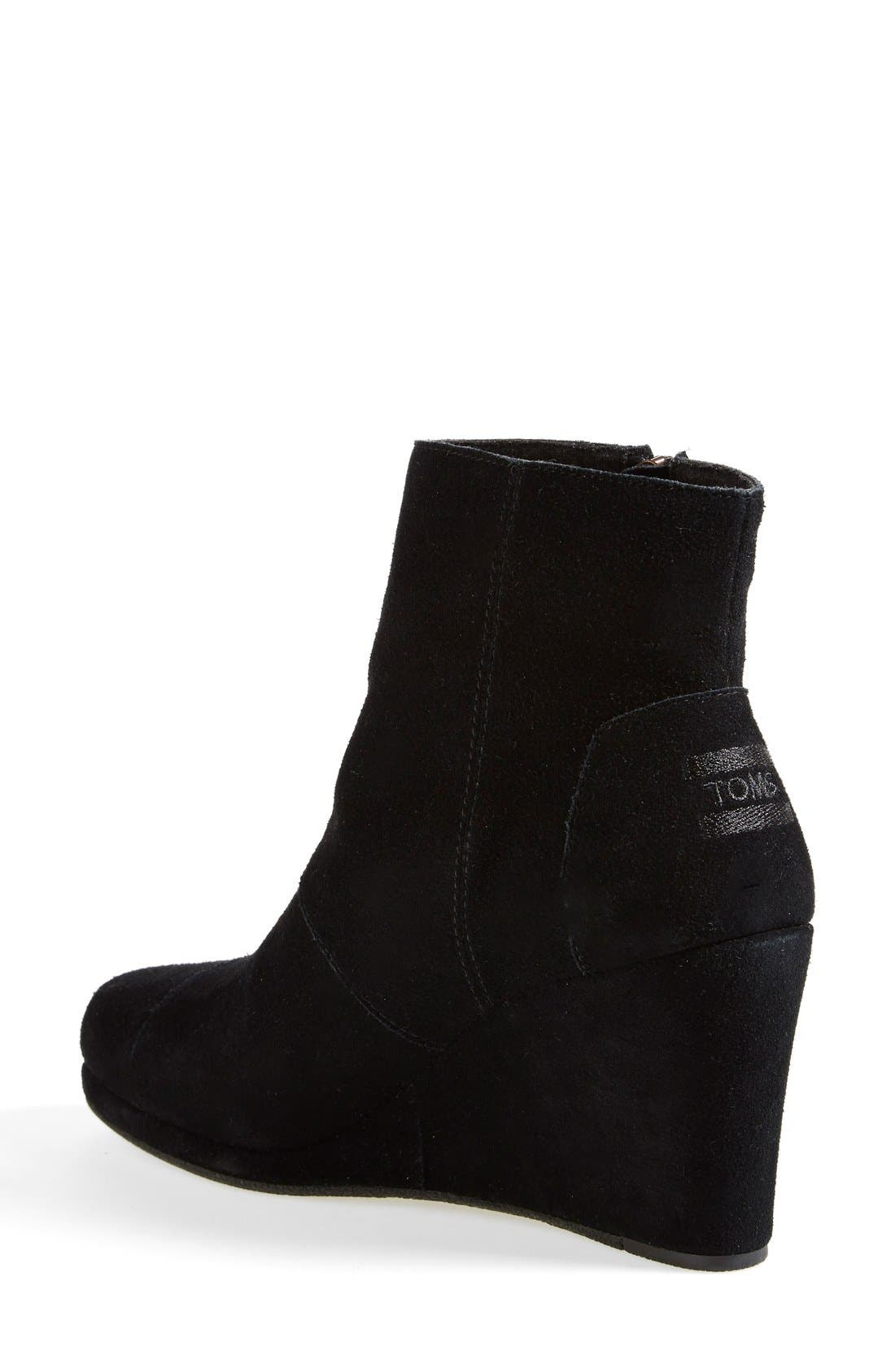 Alternate Image 2  - TOMS 'Desert' Wedge High Bootie (Women)