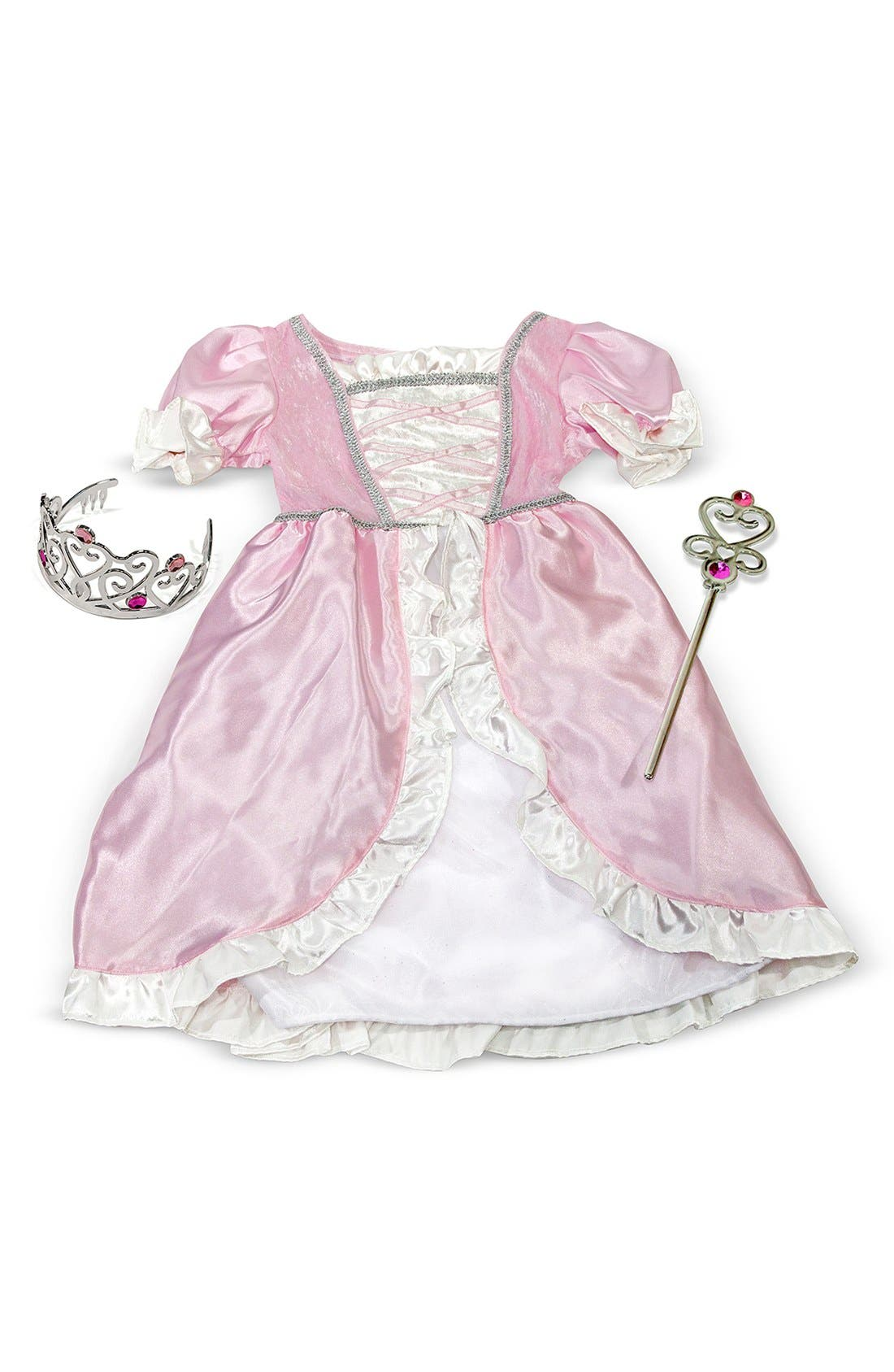 Personalized Princess Costume,                             Alternate thumbnail 2, color,                             Pink