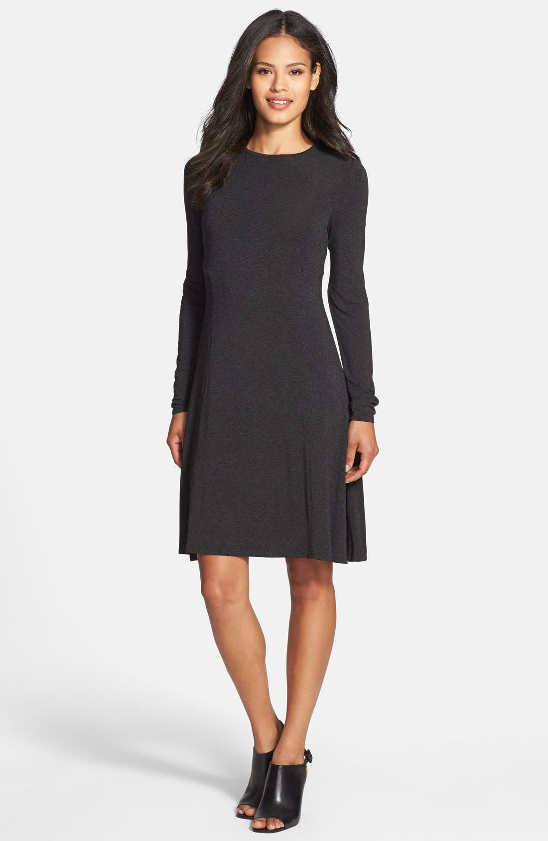 Eileen Fisher Jewel Neck Jersey Dress Regular Amp Petite