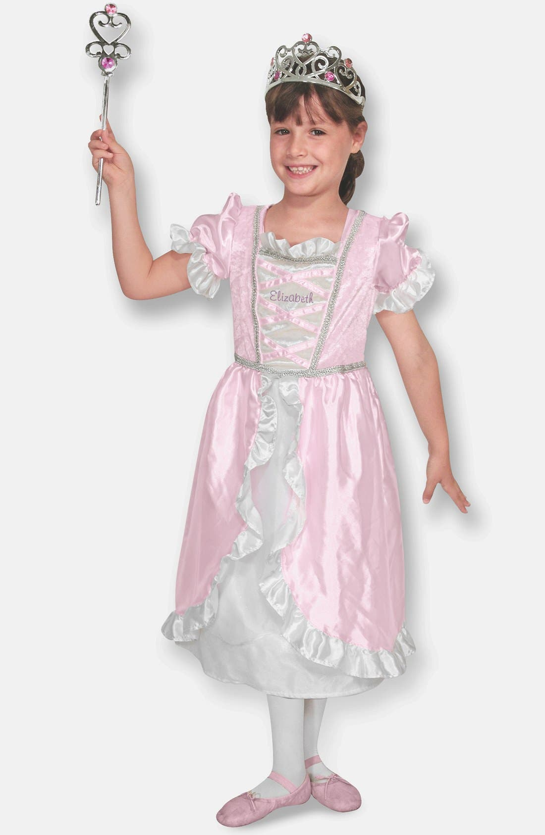 Personalized Princess Costume,                             Alternate thumbnail 4, color,                             Pink