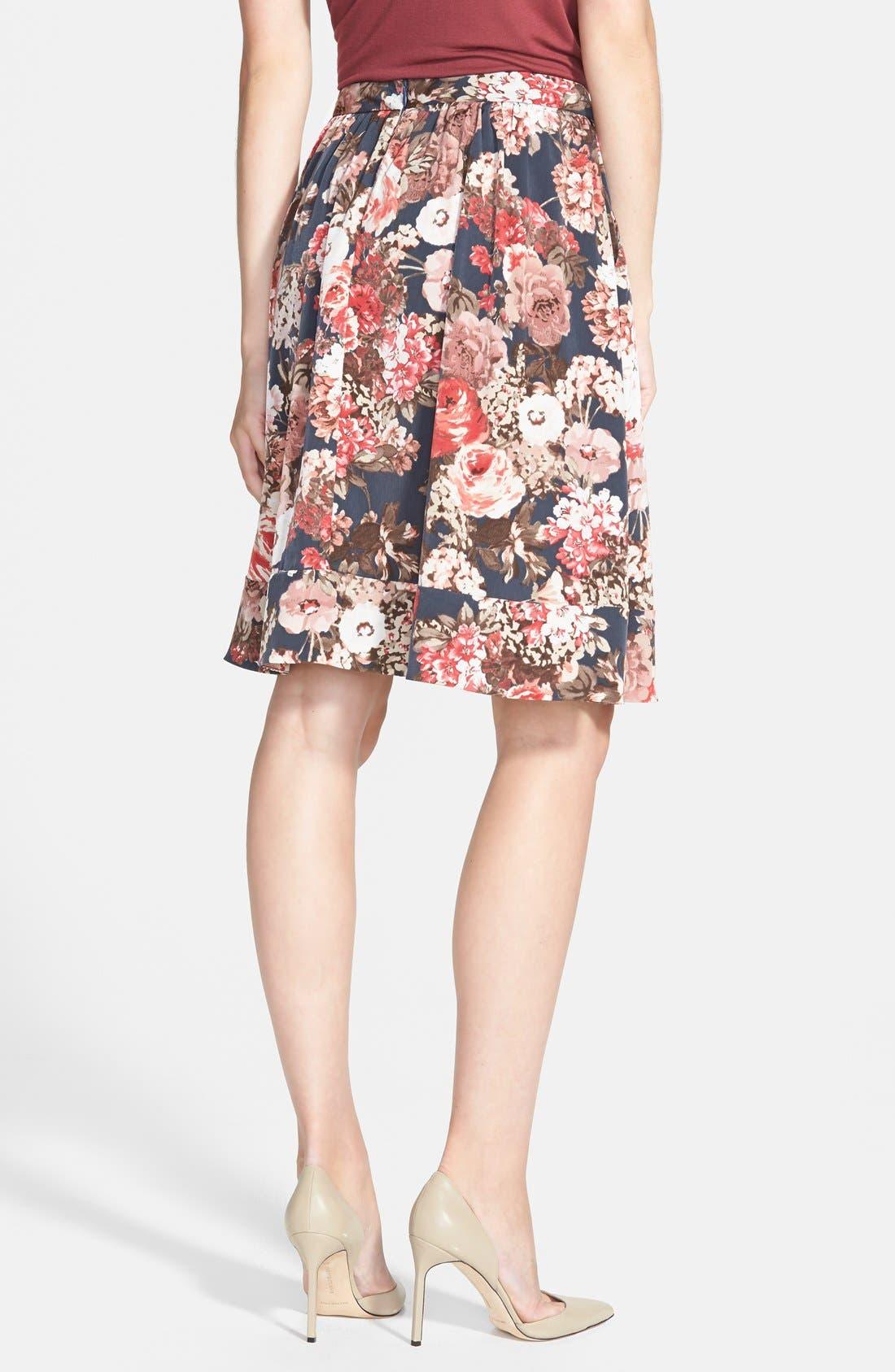 Alternate Image 2  - Search for Sanity Floral Print Midi Skirt (Regular & Petite)