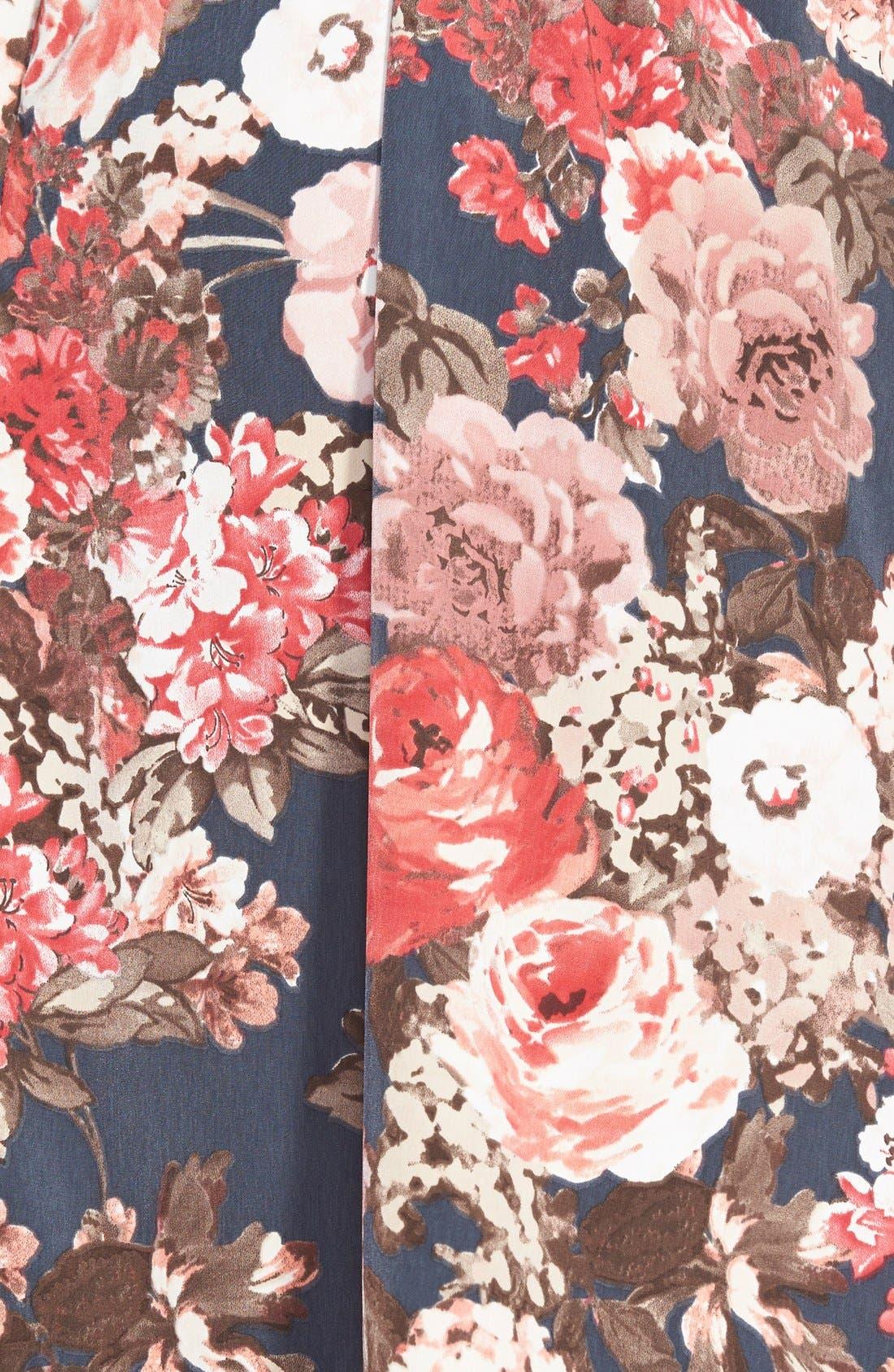 Alternate Image 3  - Search for Sanity Floral Print Midi Skirt (Regular & Petite)