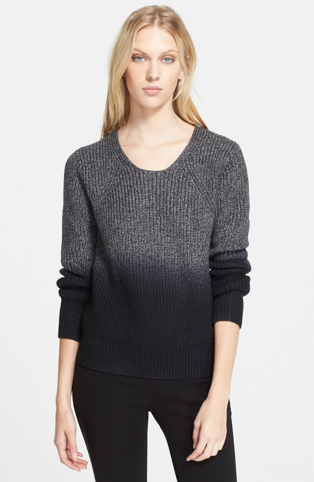 Alternate Image 1 Selected - Burberry London Ombré Sweater