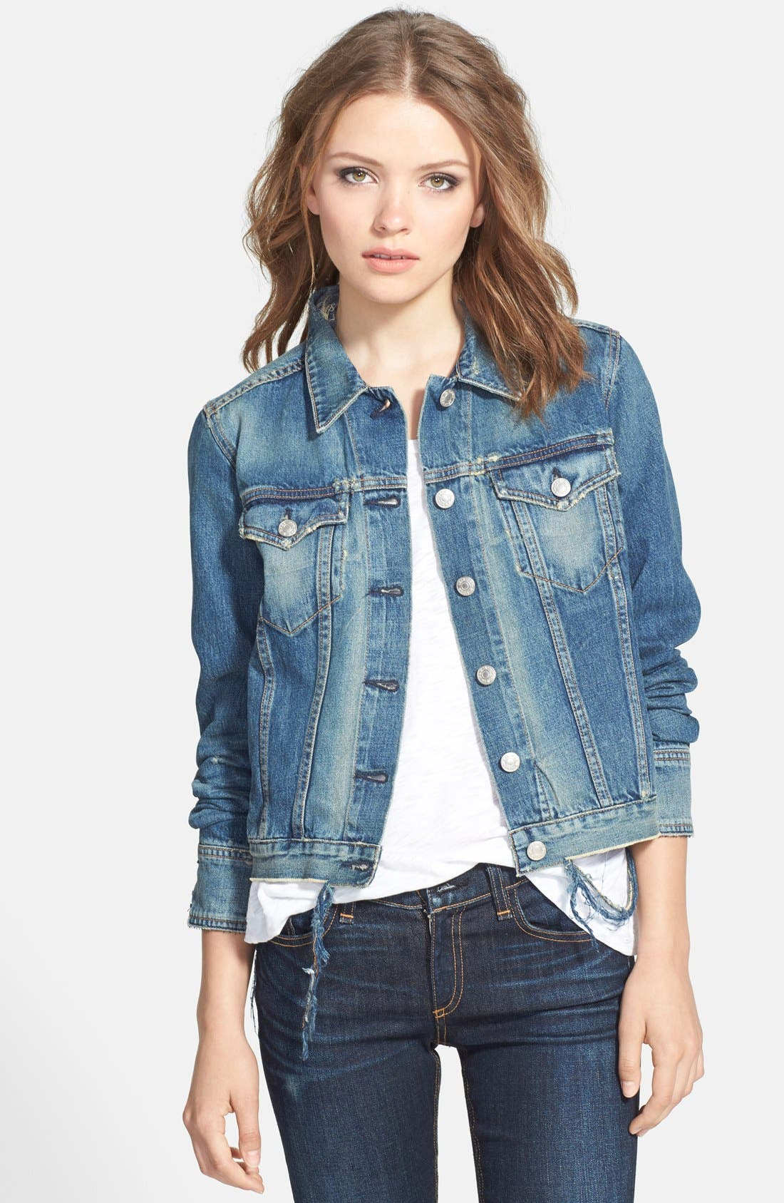 Alternate Image 1 Selected - rag & bone/JEAN Denim Jacket