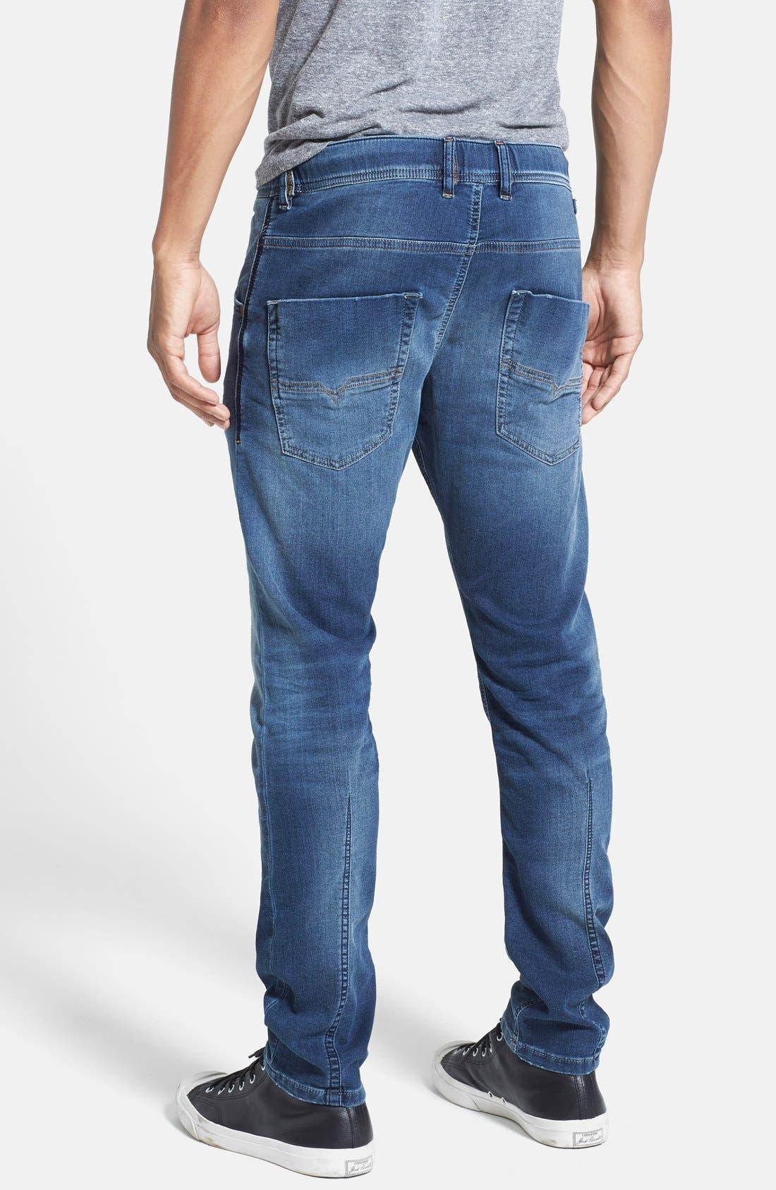 Alternate Image 2  - DIESEL® 'Krooley - Jogg Jeans' Tapered Leg Sweatpants