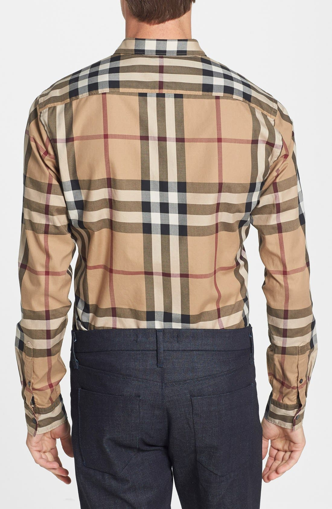 Alternate Image 2  - Burberry Trim Fit Check Sport Shirt