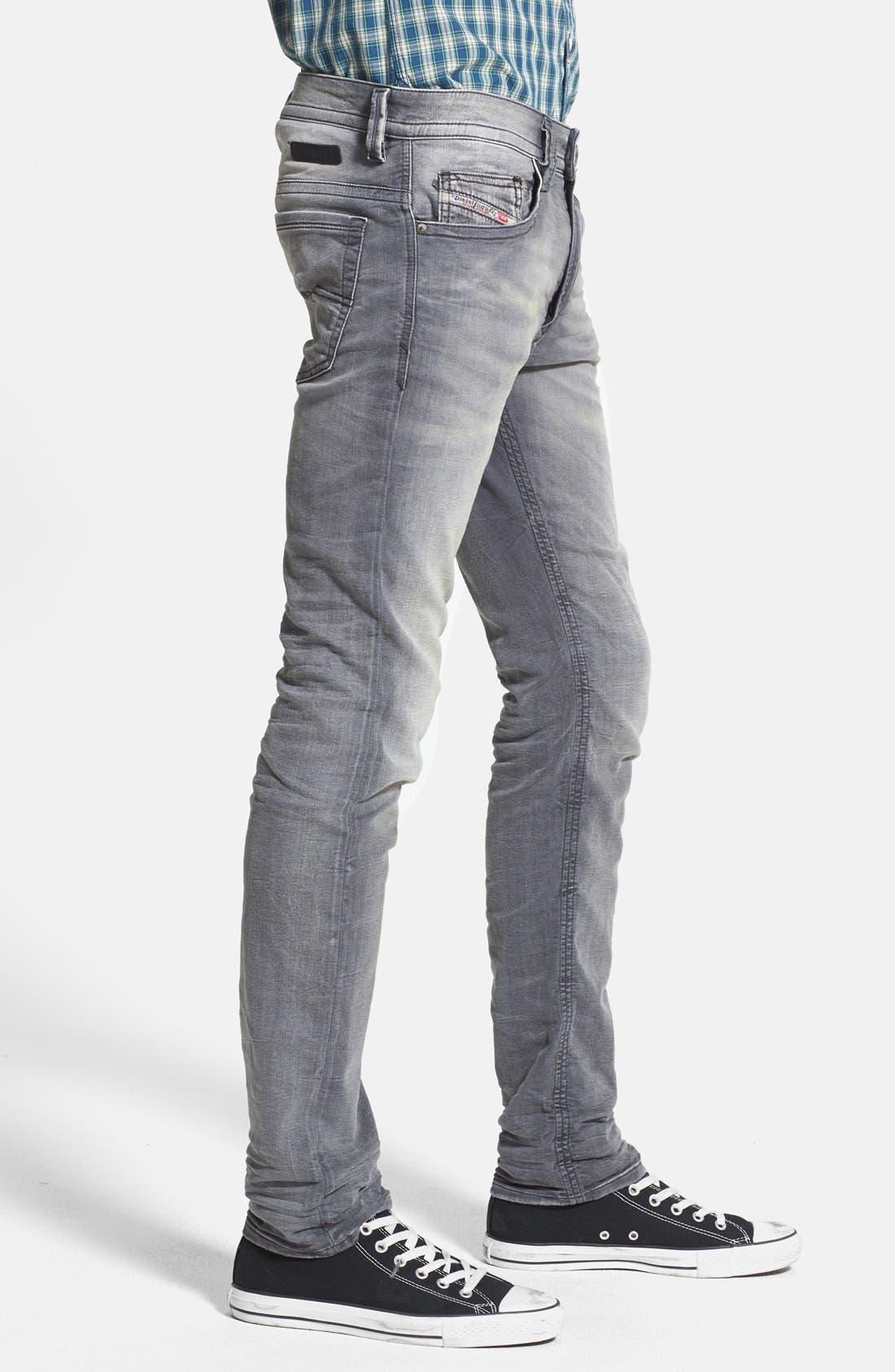 Alternate Image 3  - DIESEL® 'Thavar Jogg' Skinny Fit Jeans (0830Q)