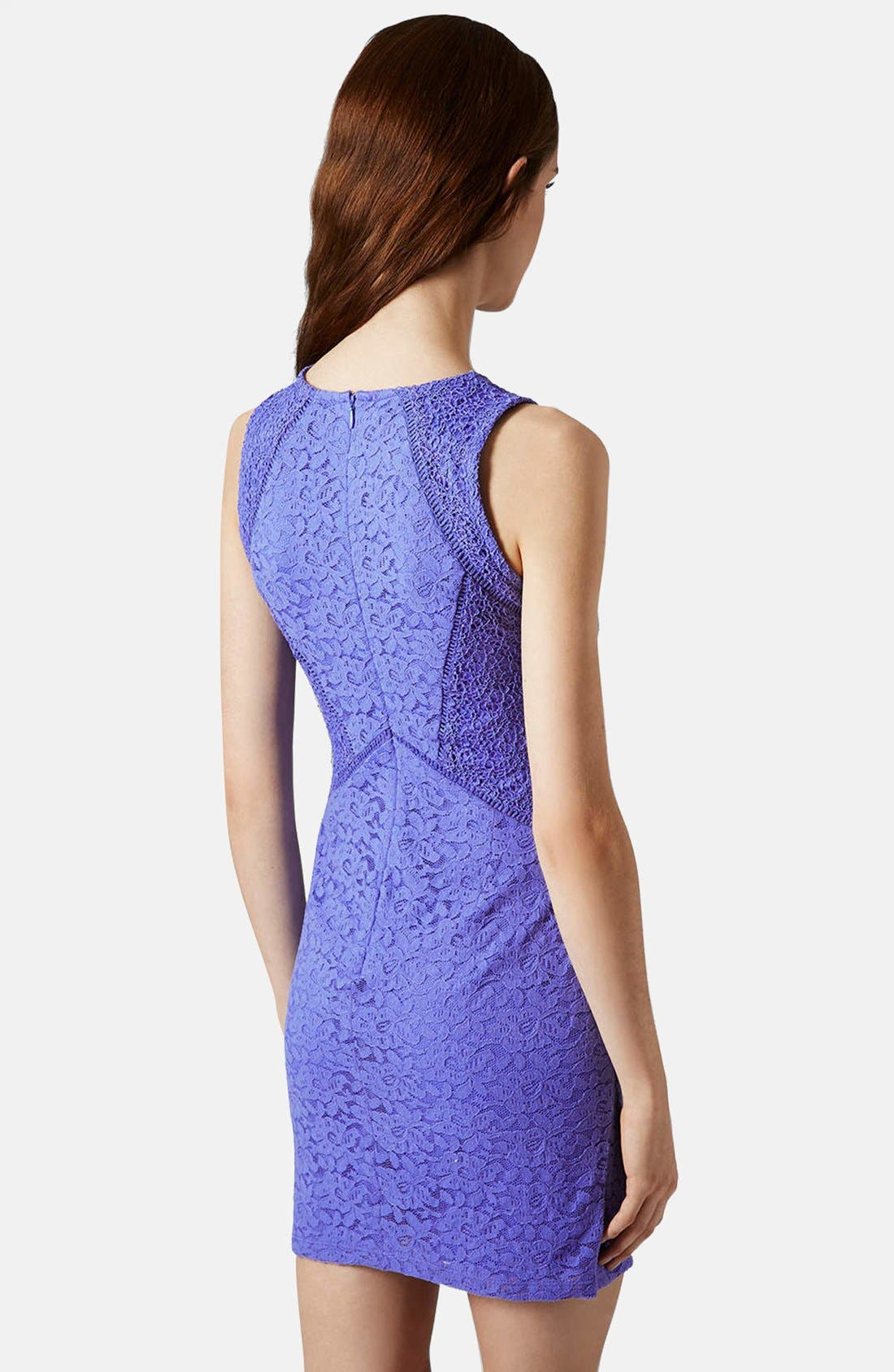 Alternate Image 2  - Topshop Lace Mix Body-Con Dress