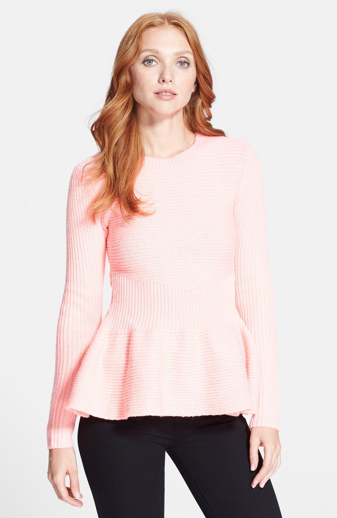 Alternate Image 1 Selected - Ted Baker London 'Edeniaa' Rib Knit Peplum Sweater