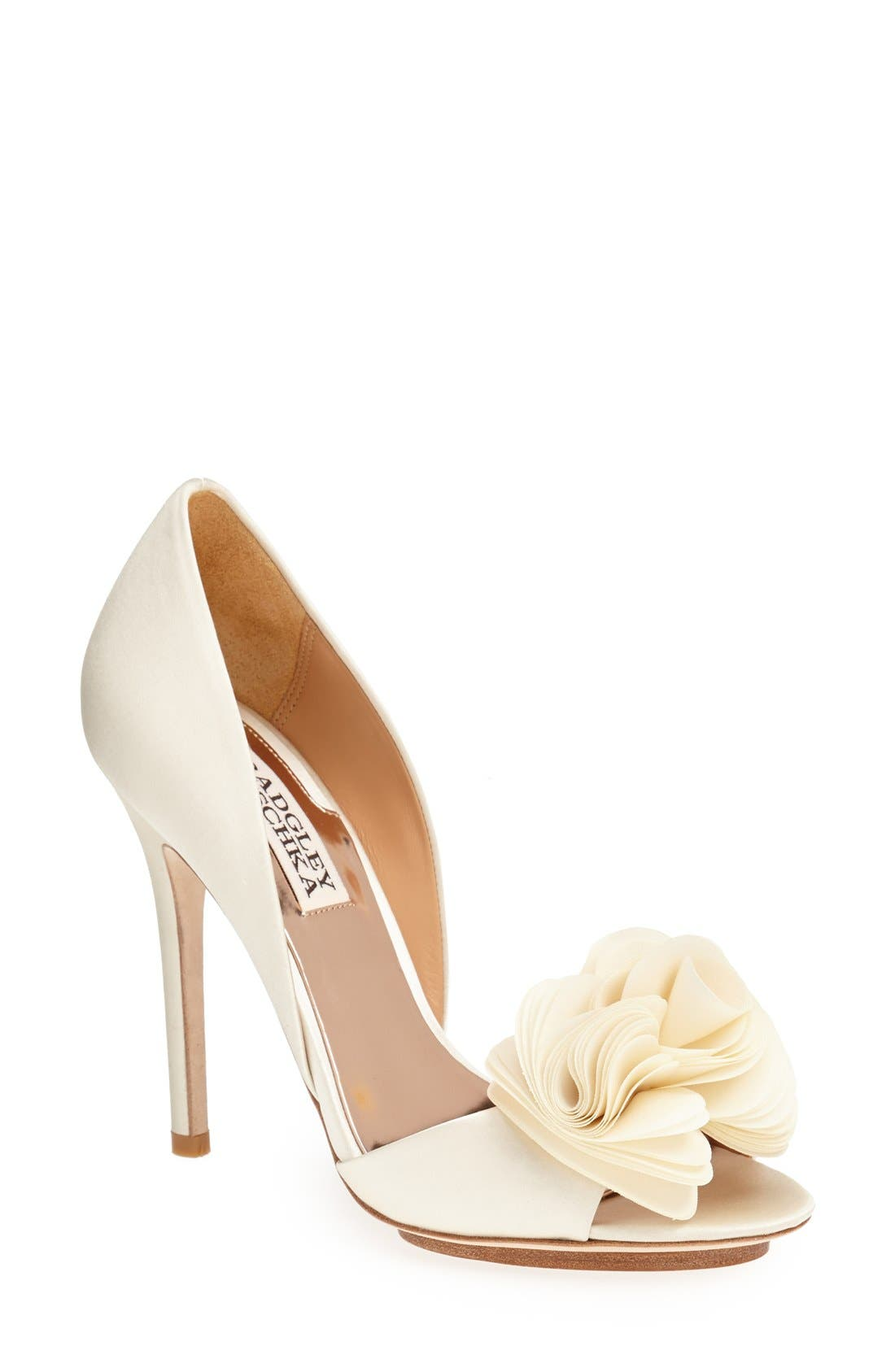 Alternate Image 1 Selected - Badgley Mischka 'Blossom' Open Toe d'Orsay Pump (Women)