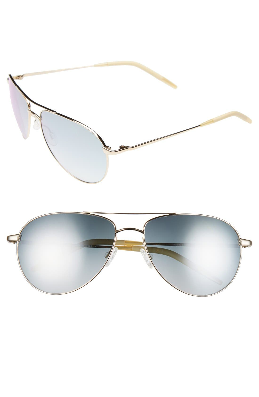 Alternate Image 1 Selected - Oliver Peoples 'Benedict' 59mm Aviator Sunglasses