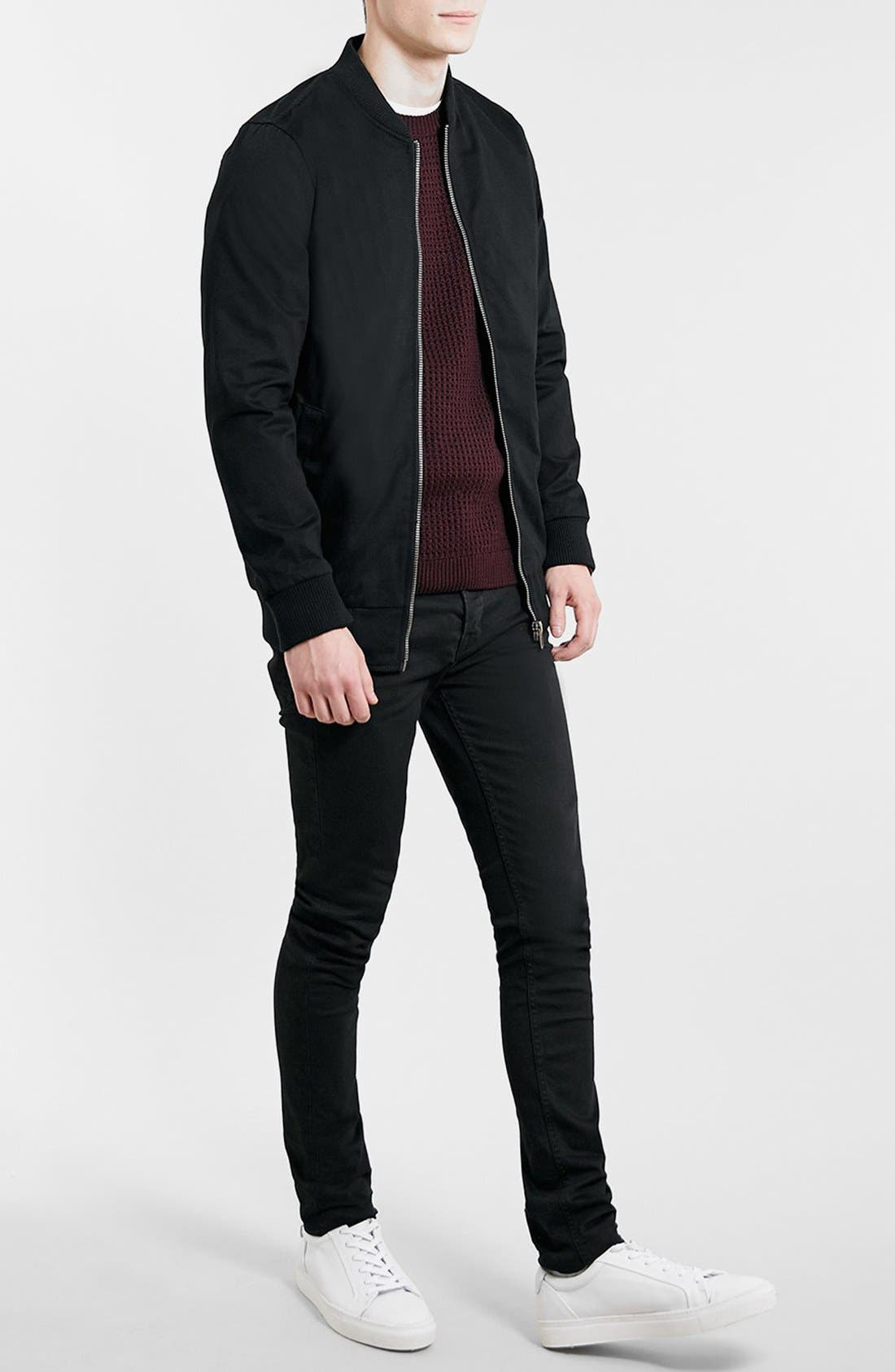 Alternate Image 4  - Topman Longline Lightweight Twill Bomber Jacket