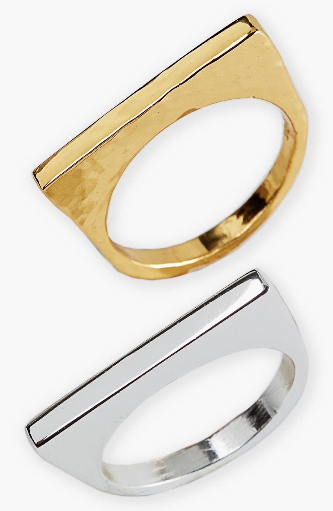 Alternate Image 2  - Argento Vivo Straight Edge Rings (Set of 2)