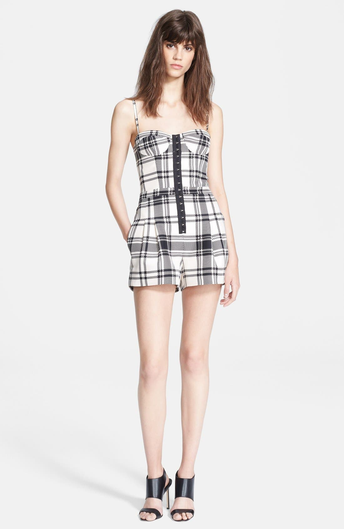 Alternate Image 1 Selected - Haute Hippie Plaid Bustier Romper