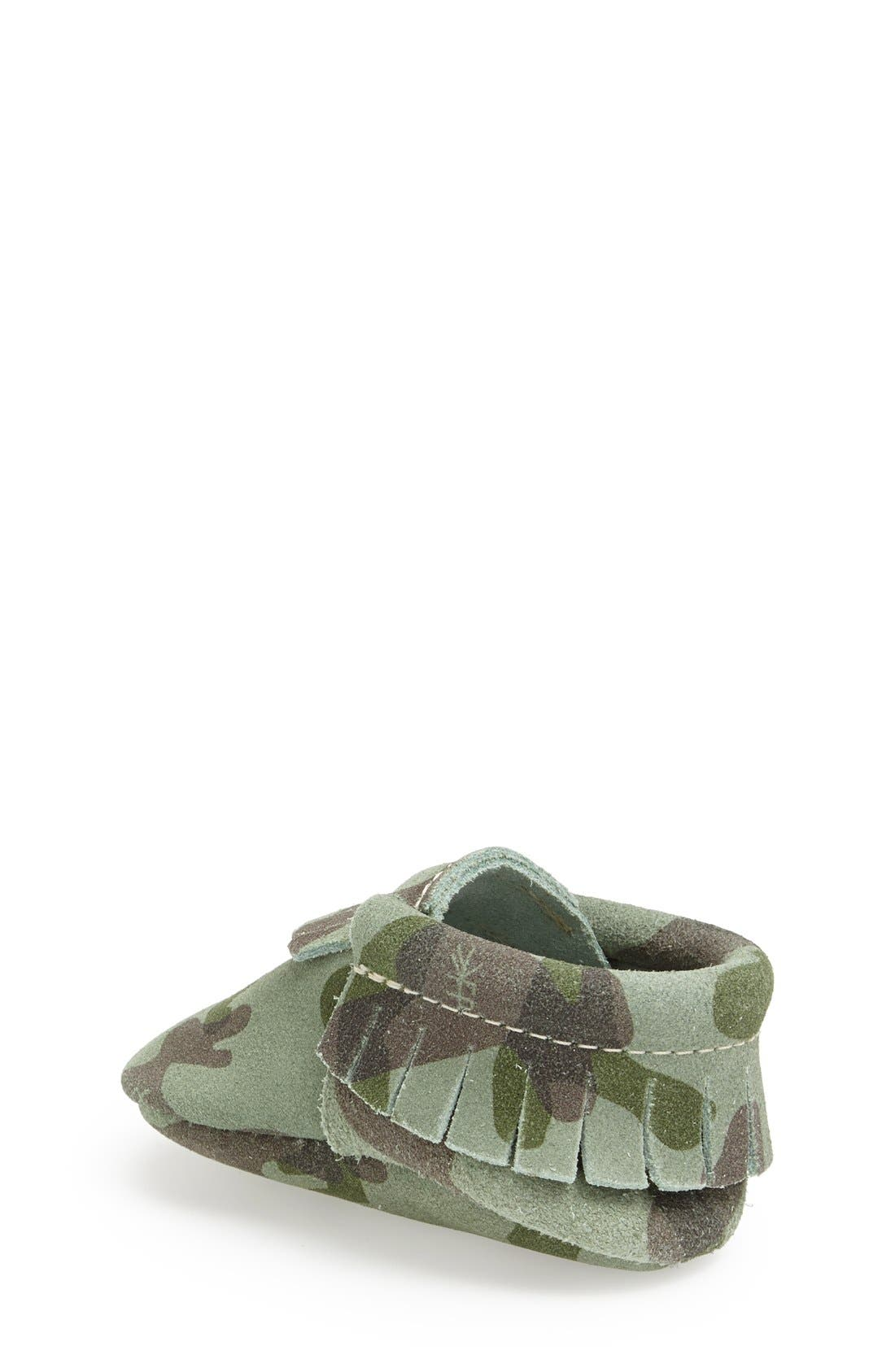 Alternate Image 2  - Freshly Picked Camo Print Suede Moccasin (Baby & Walker)