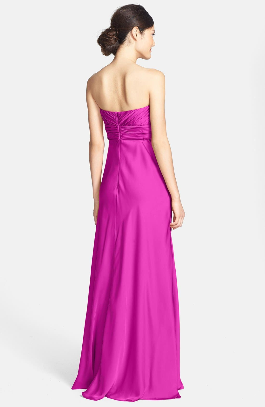 Alternate Image 2  - ML Monique Lhuillier Bridesmaids Strapless Gown (Nordstrom Exclusive)