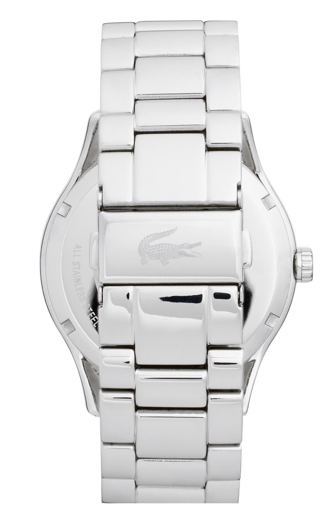 Alternate Image 3  - Lacoste 'Victoria' Crystal Bezel Logo Bracelet Watch, 40mm