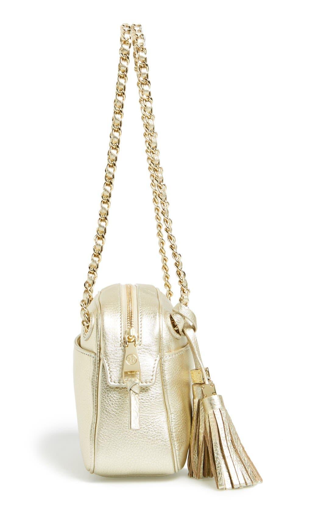 Alternate Image 5  - Tory Burch 'Thea' Metallic Leather Crossbody Bag