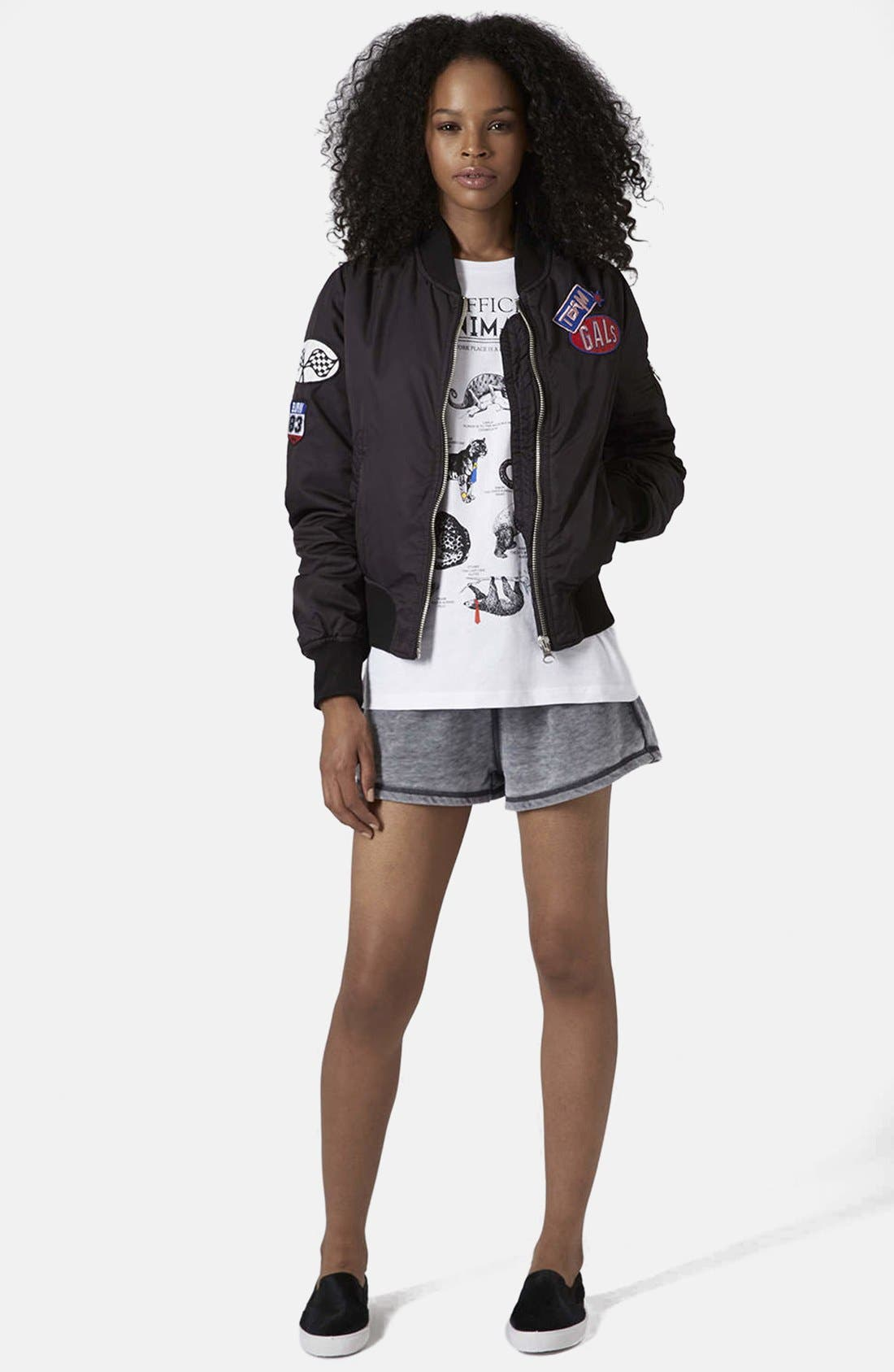 Alternate Image 5  - Topshop MA1 Bomber Jacket
