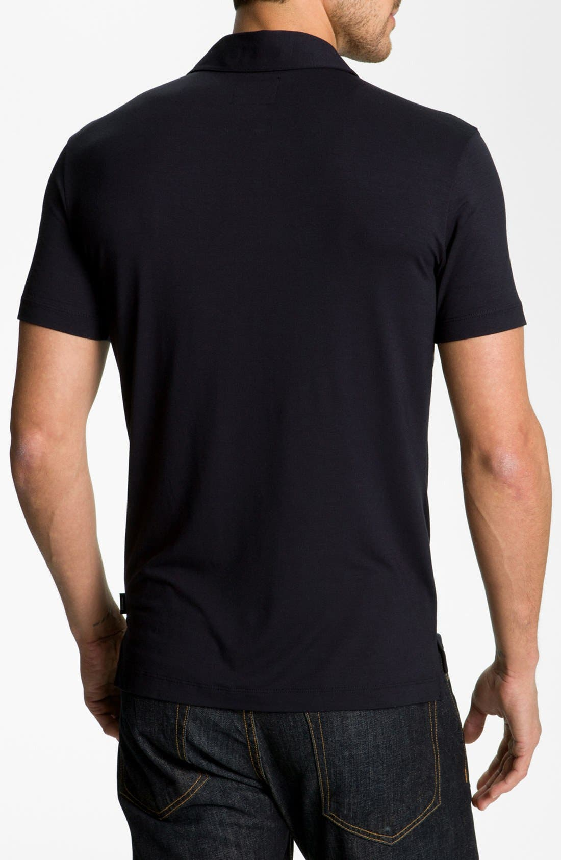 Alternate Image 3  - Armani Collezioni Trim Fit Polo