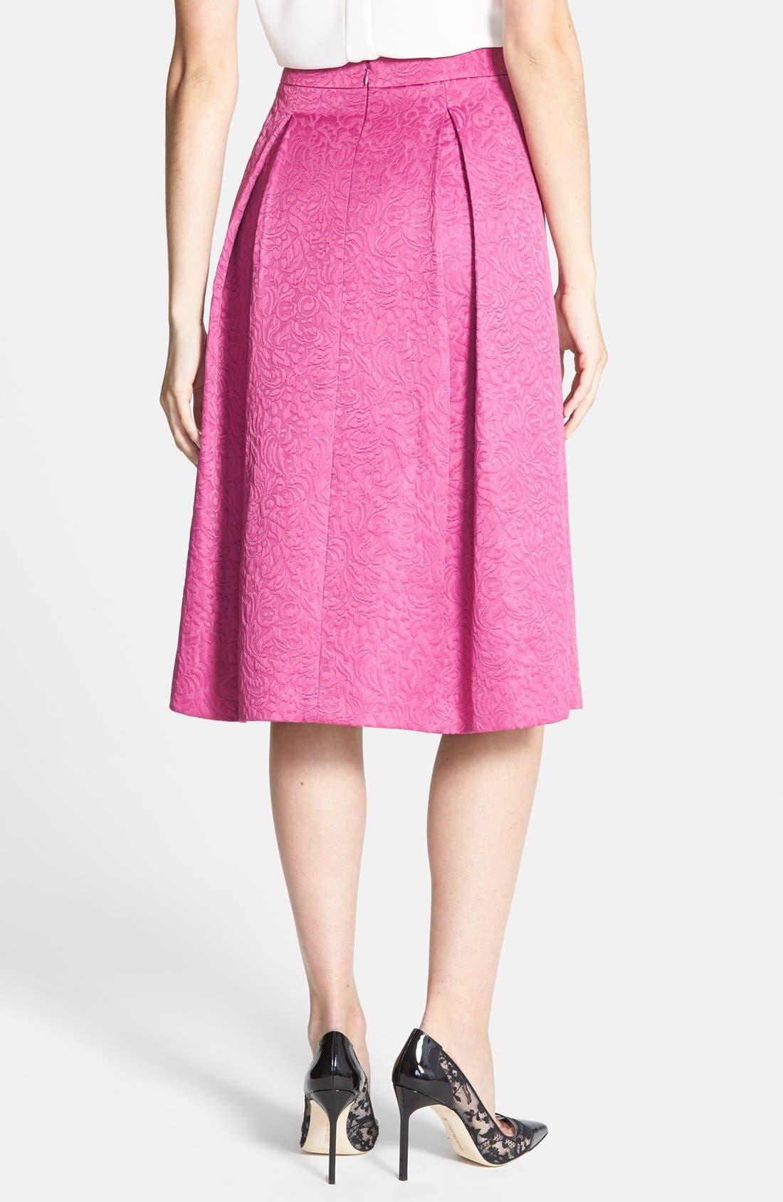 Full Pleat Skirt,                             Alternate thumbnail 2, color,                             Pink Plumier