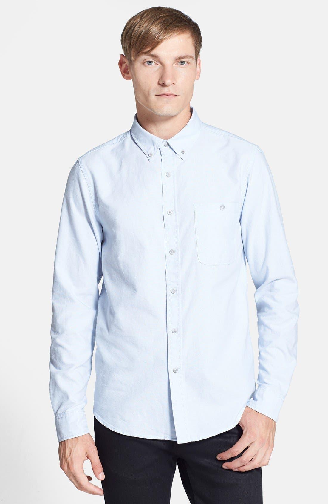 Main Image - Topman Slim Fit Oxford Shirt