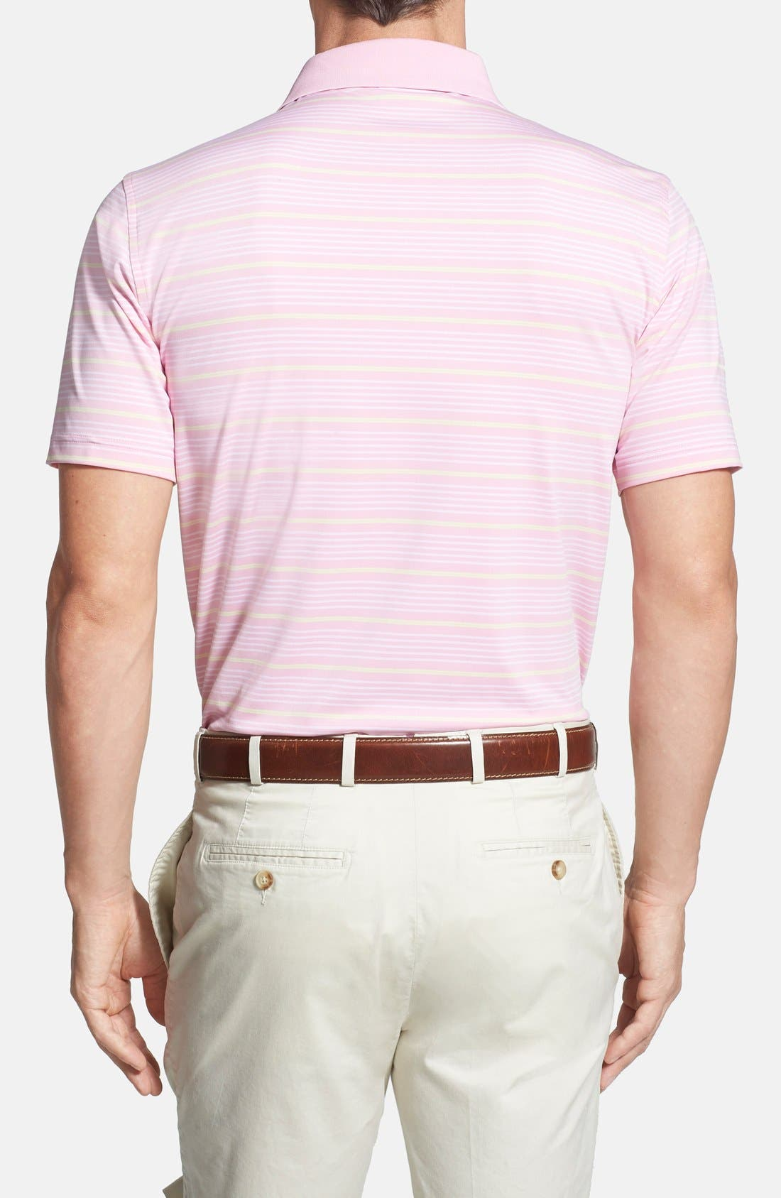 'Staley' Moisture Wicking Polo,                             Alternate thumbnail 2, color,                             Bermuda Pink