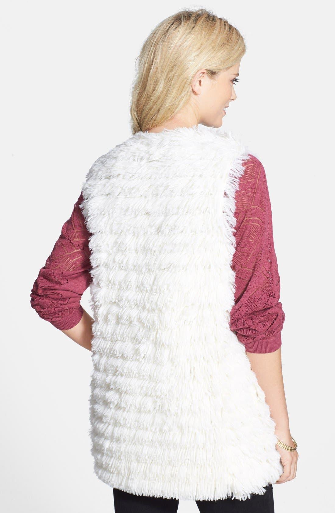 Alternate Image 2  - Jolt Faux Fur Vest (Juniors)