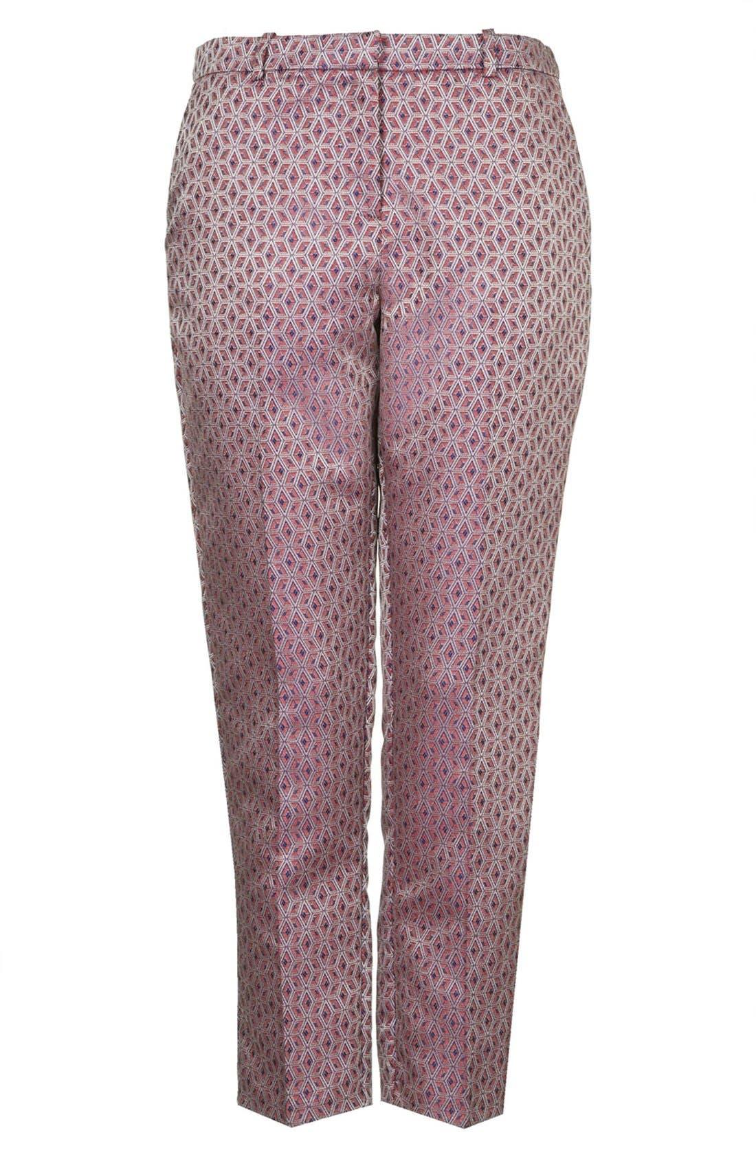 Alternate Image 3  - Topshop Jacquard Cigarette Pants