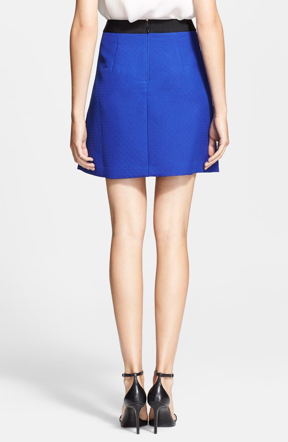 Alternate Image 2  - Ted Baker London Zip Pocket Skater Skirt