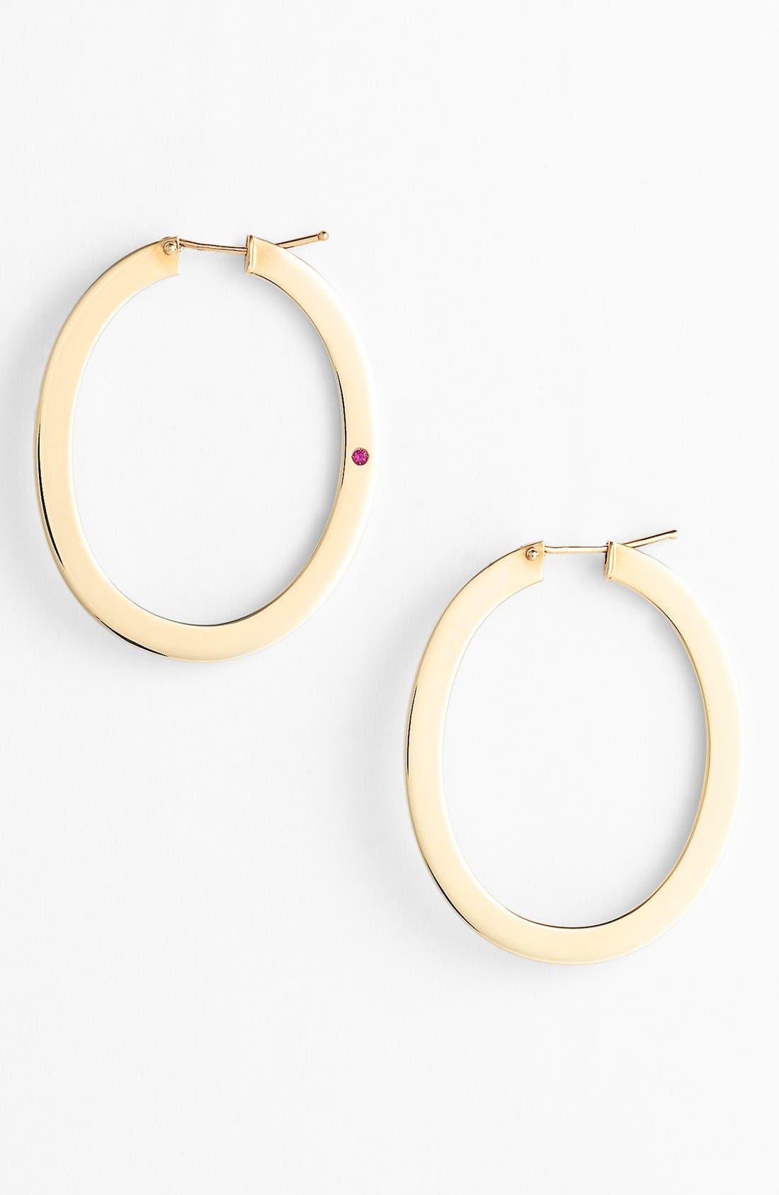 Main Image - Roberto Coin Large Flat Hoop Earrings